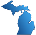 This is an image of the state of Michigan