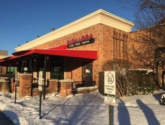This is an image of Bigalora, a popular pizzeria near the Dwellworks Detroit office.