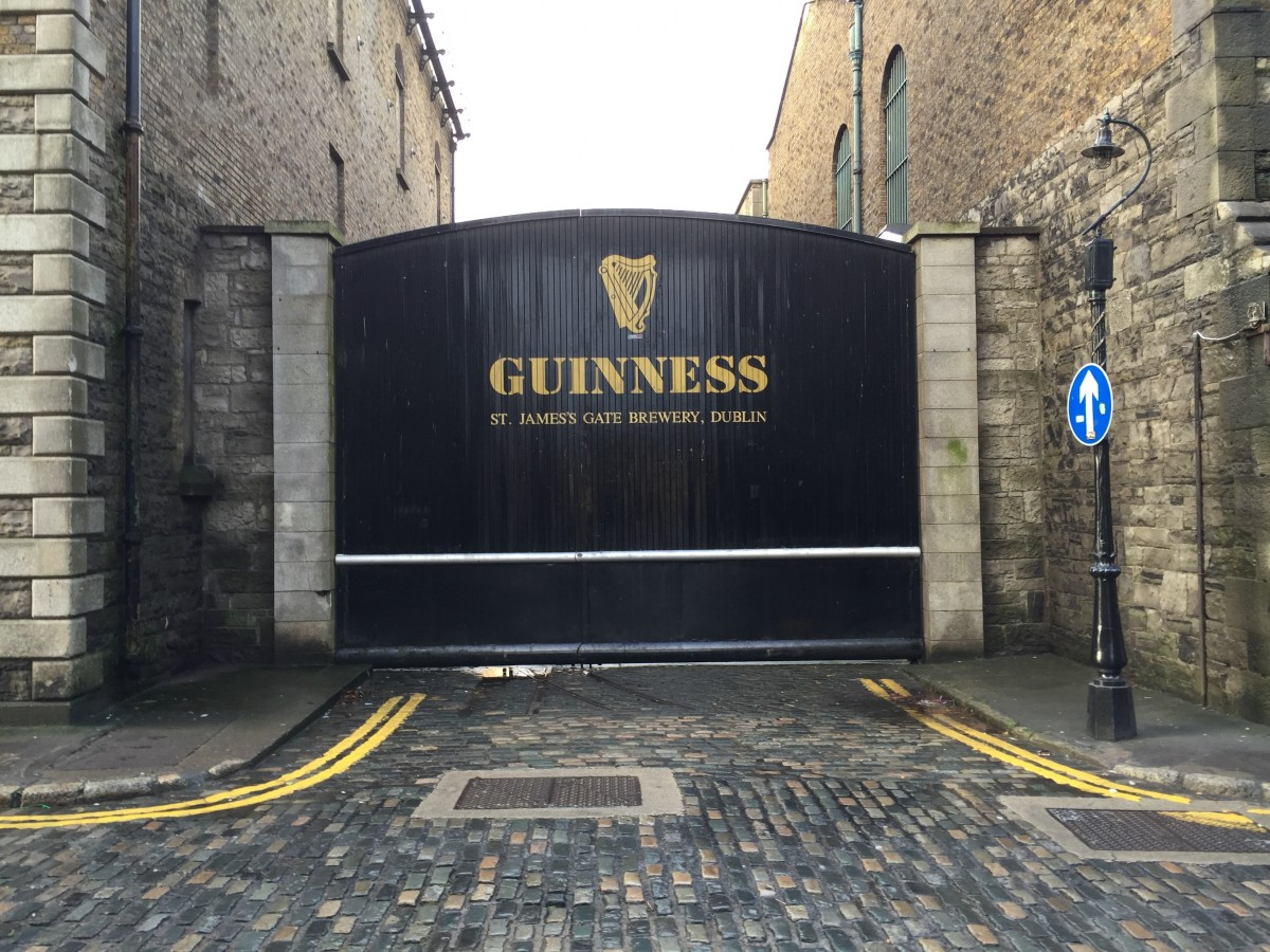 An image of the Guinness gate