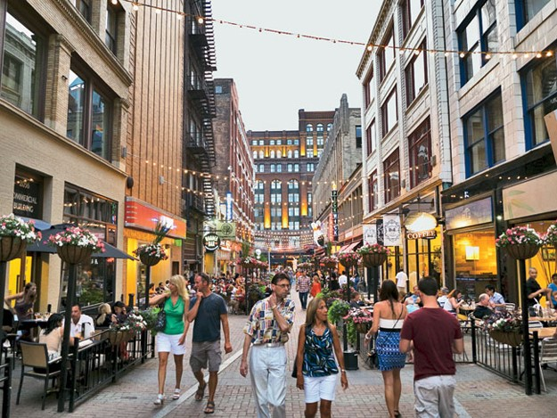 This is an image of East 4th Street in Cleveland, Ohio