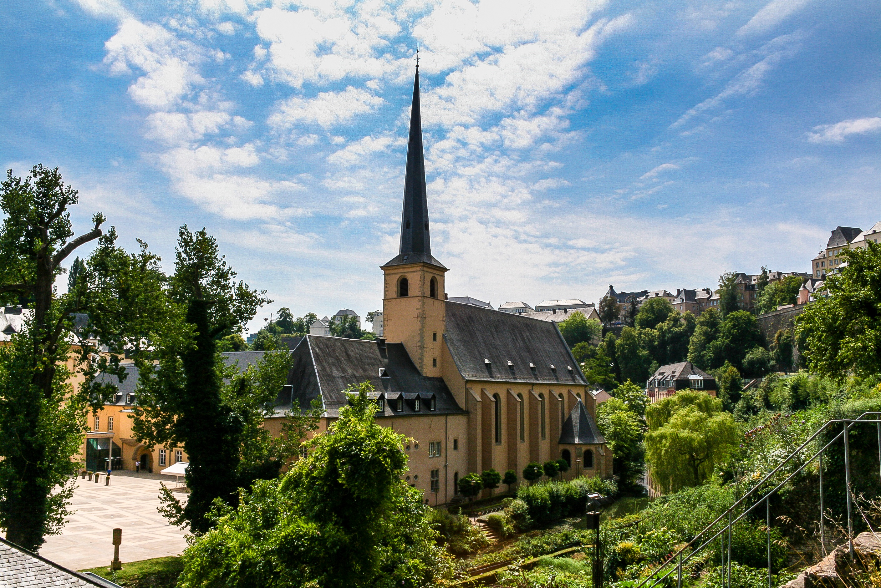 This is an image of St. John's Church in Luxembourg City