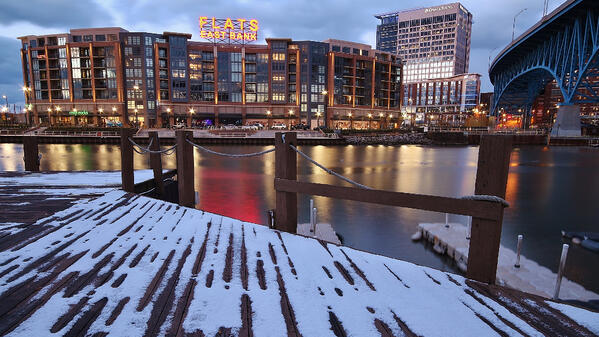 Image of the Flats East Bank in Winter