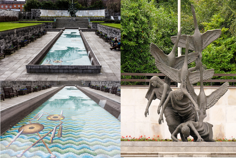 A collage of images of the Garden of Remembrance
