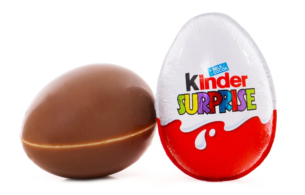 photo of the Kinder Egg candy and toy