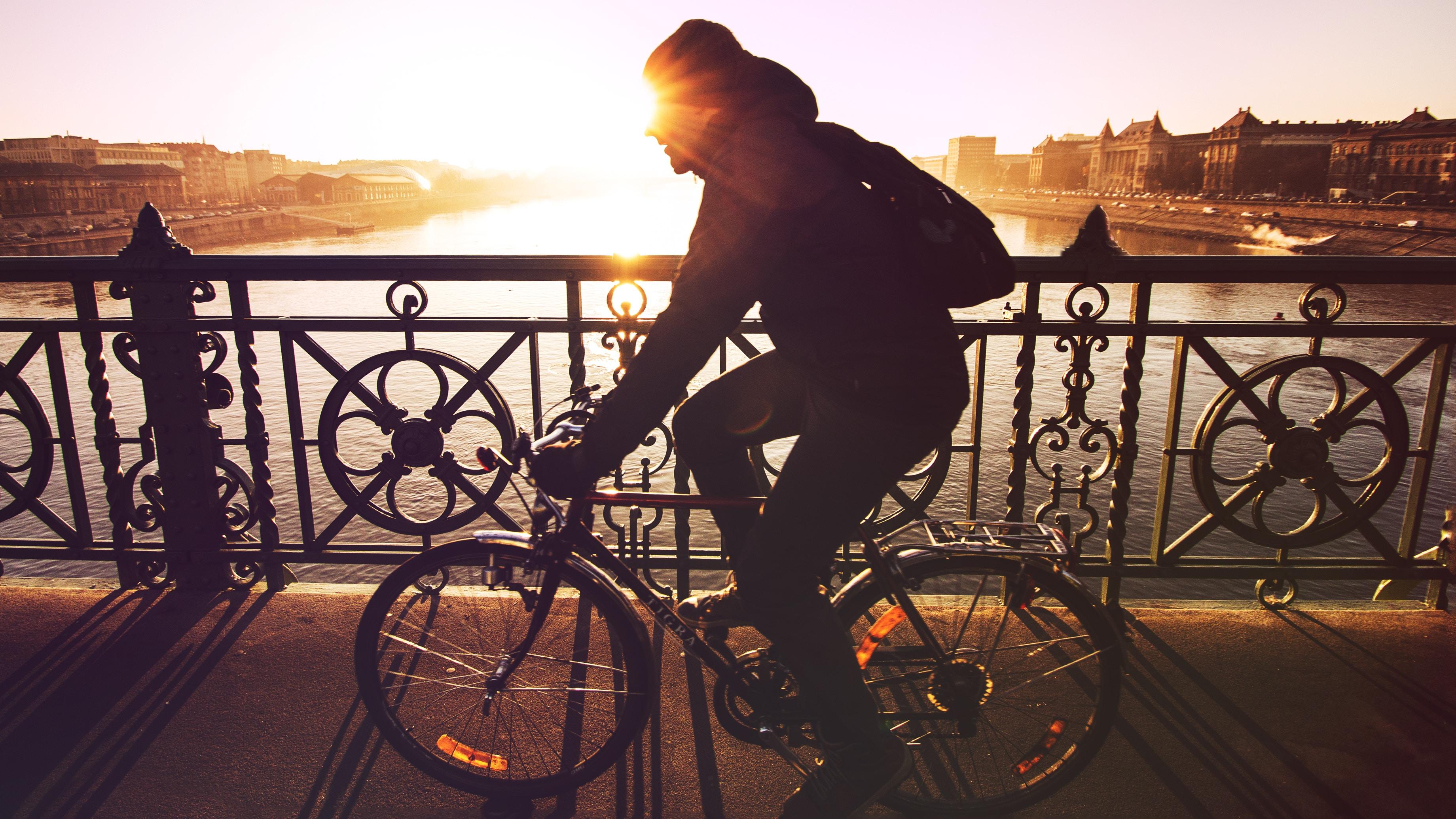 An image of a man on a bike
