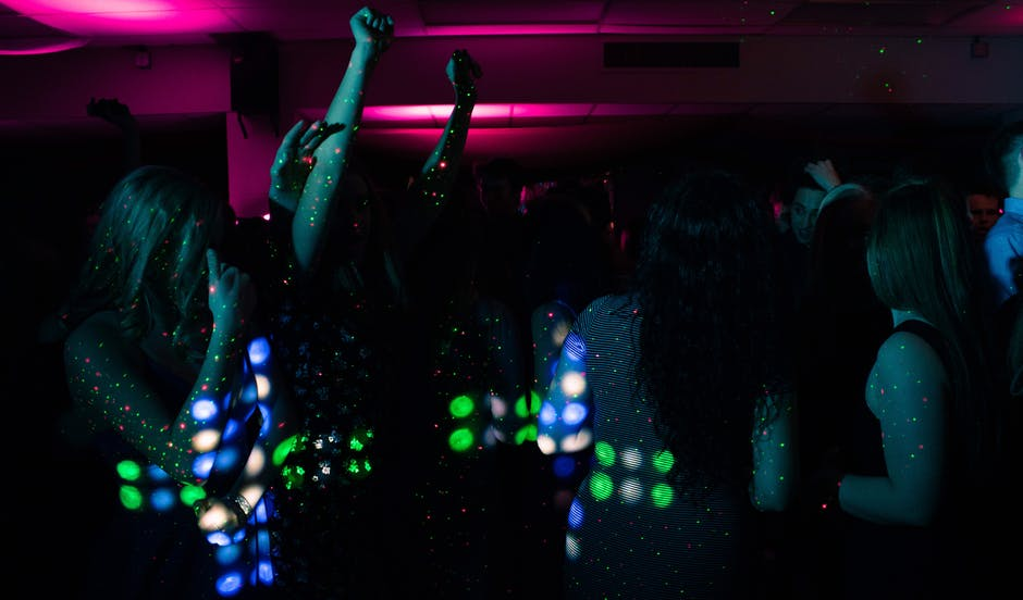 An image of dancers in a nightclub.