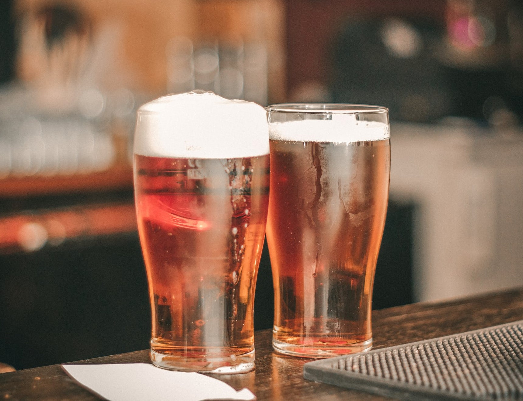 An image of two pints of beer