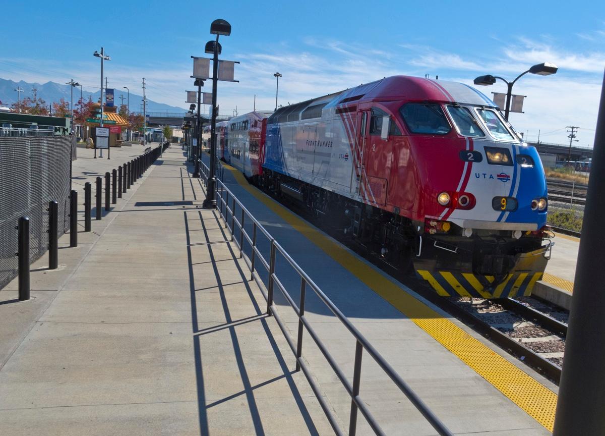 Image of a public transportation train