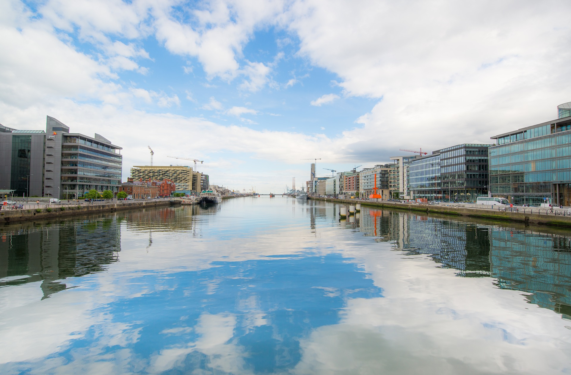 An image of the River Liffey in Dublin, Ireland