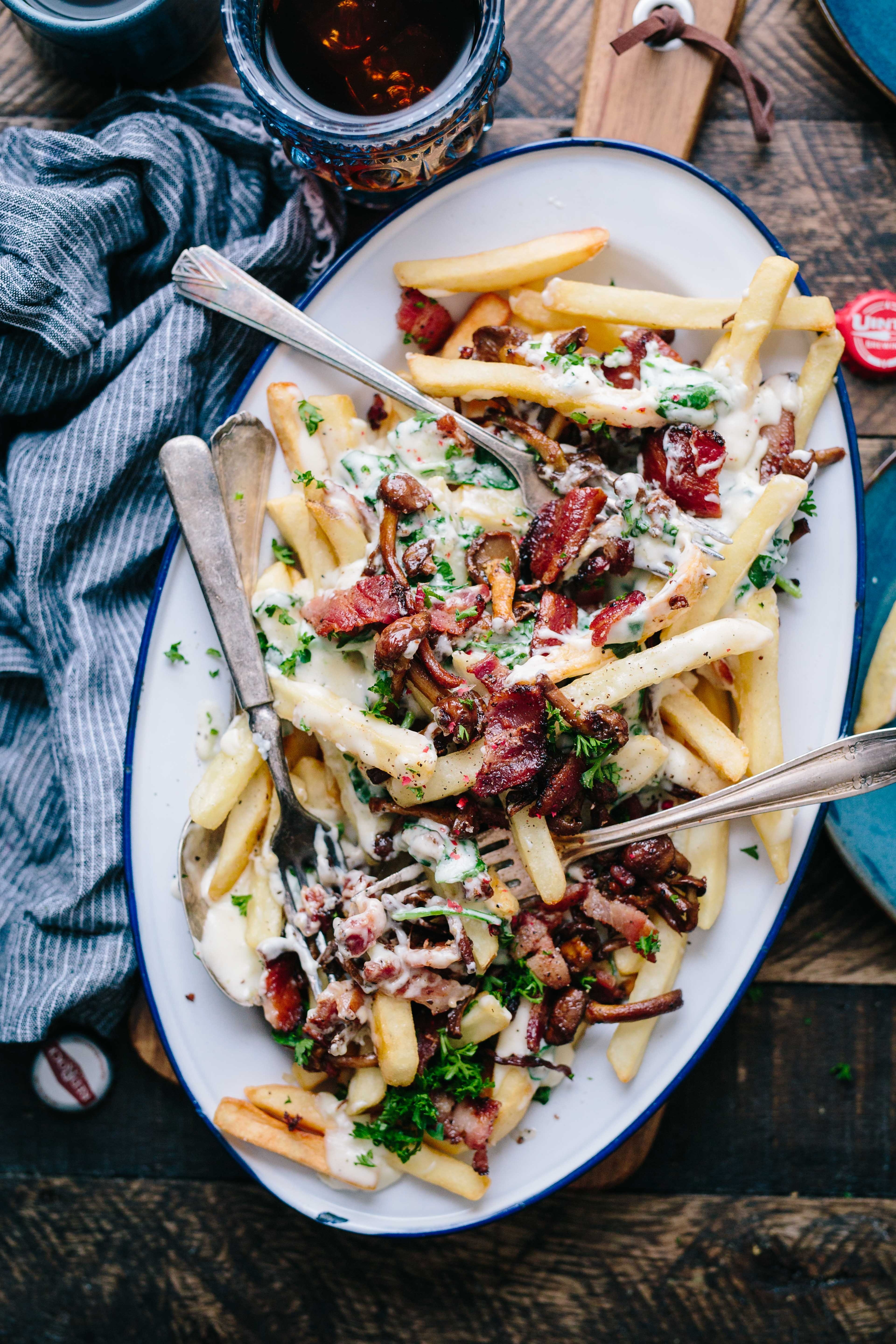 Image of poutine in Canada, a favorite Canadian dish