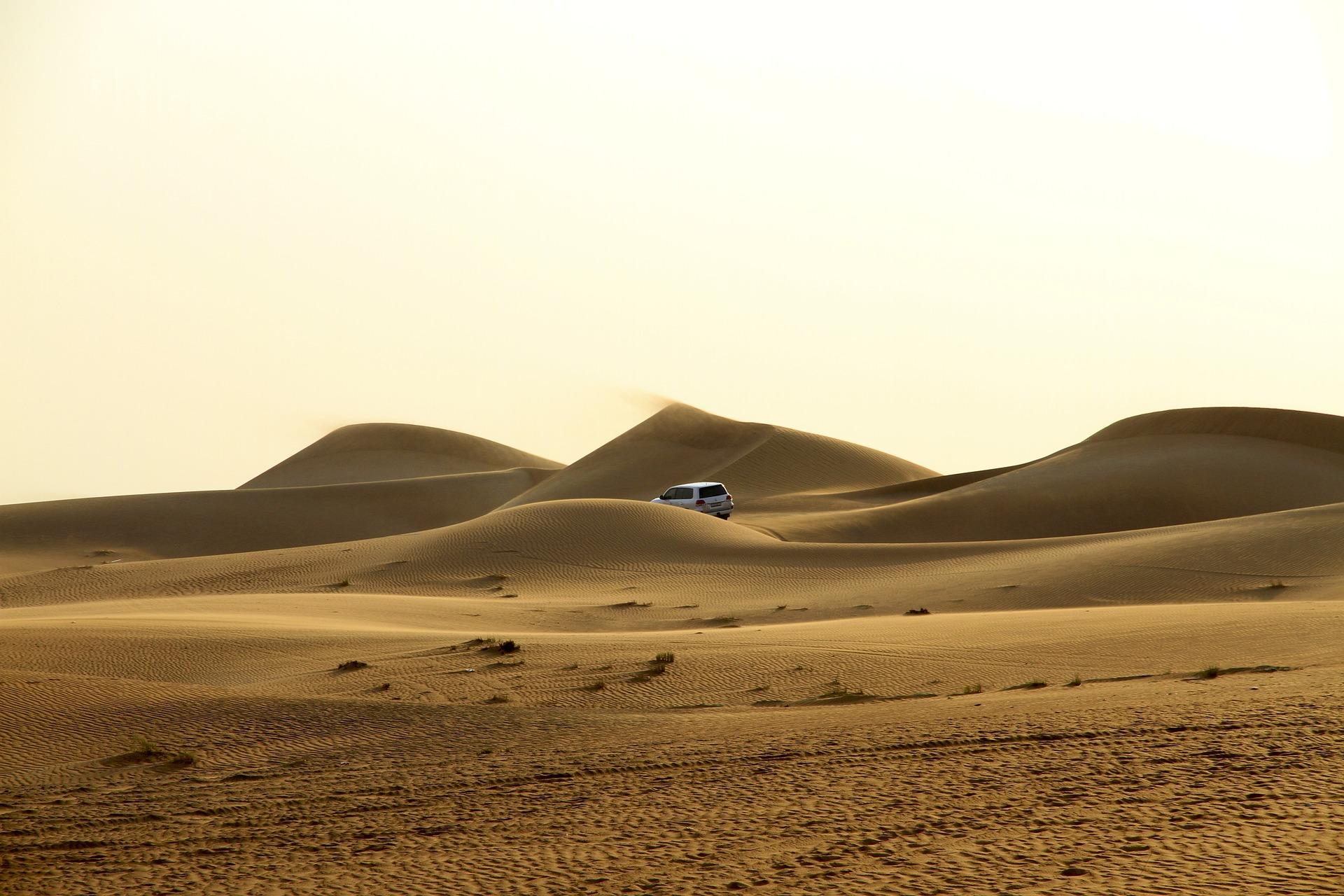 Image of desert dunes in the UAE