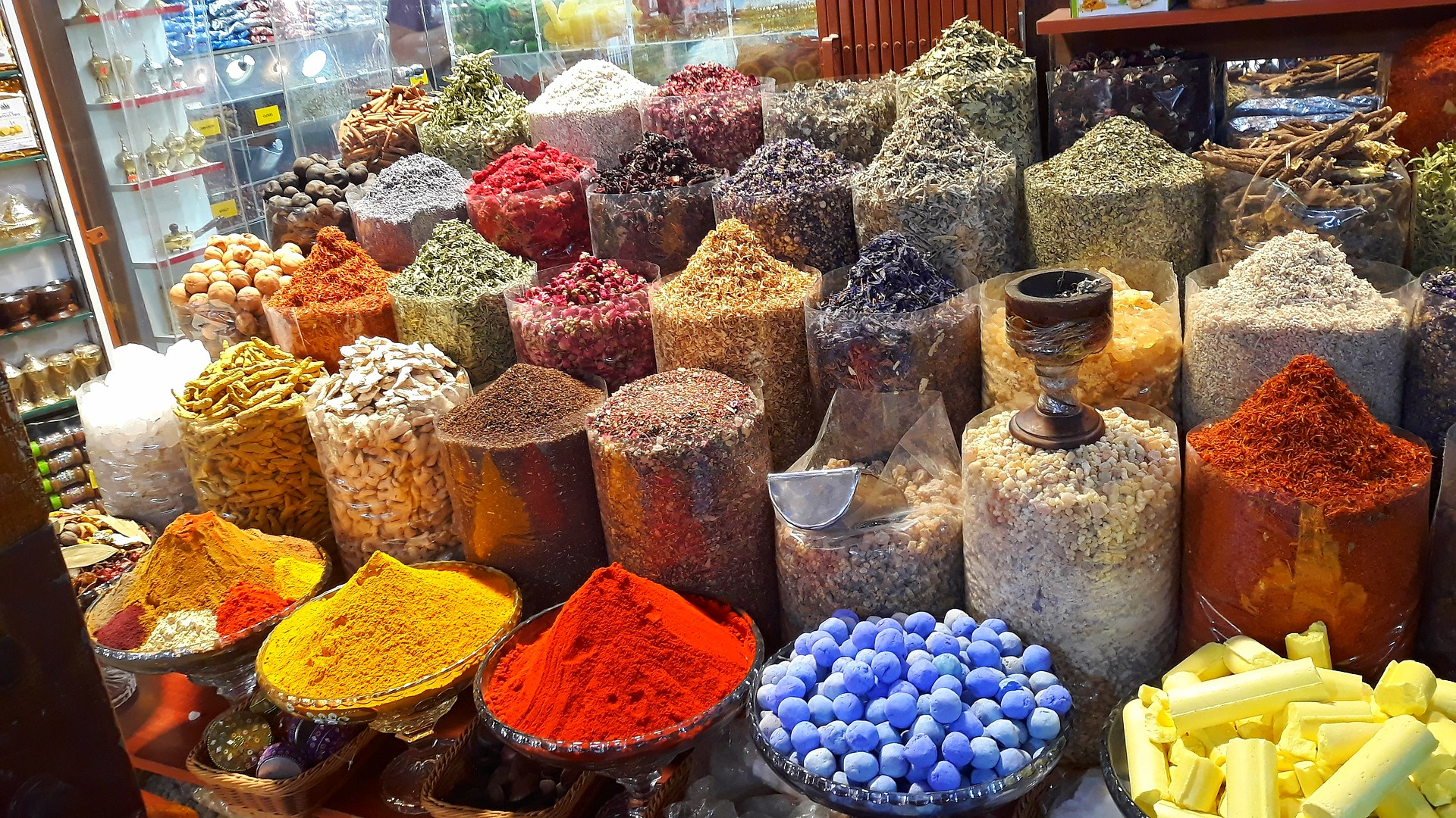 Image of a souk, or market, in the UAE