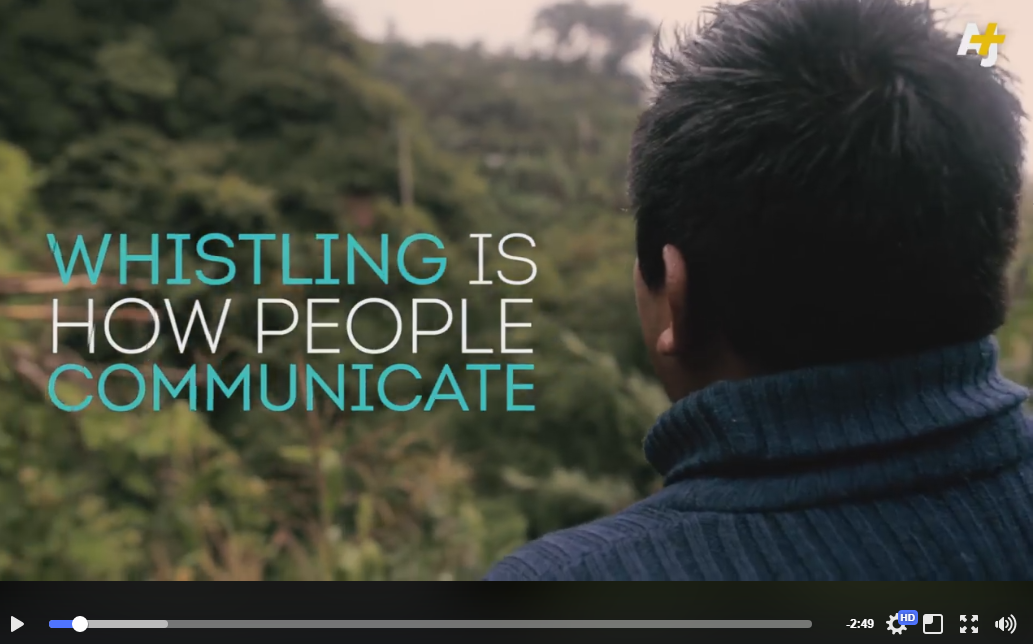 Link to video on whistled speech in Oaxaca