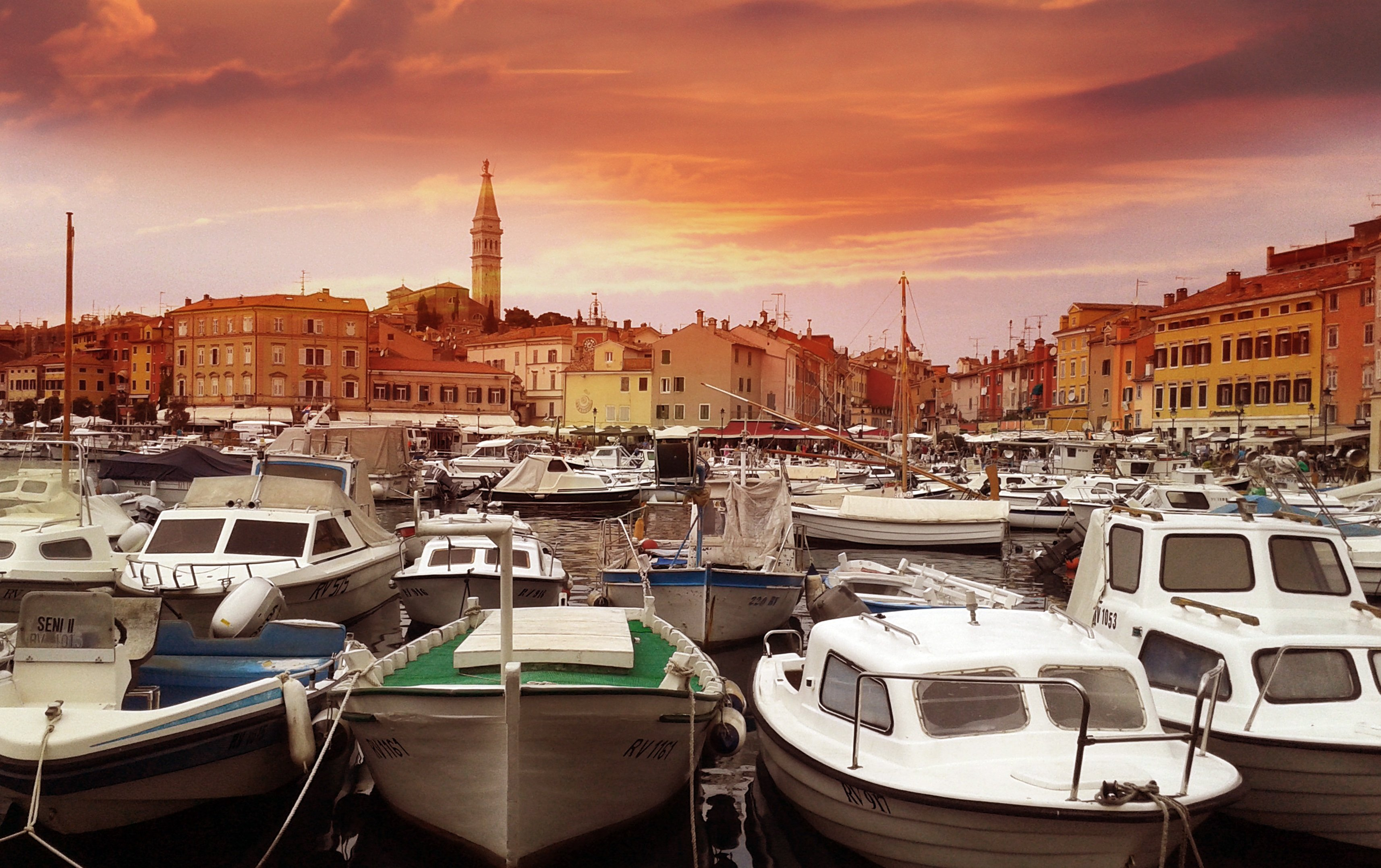 Image of boats in a port in Croatia