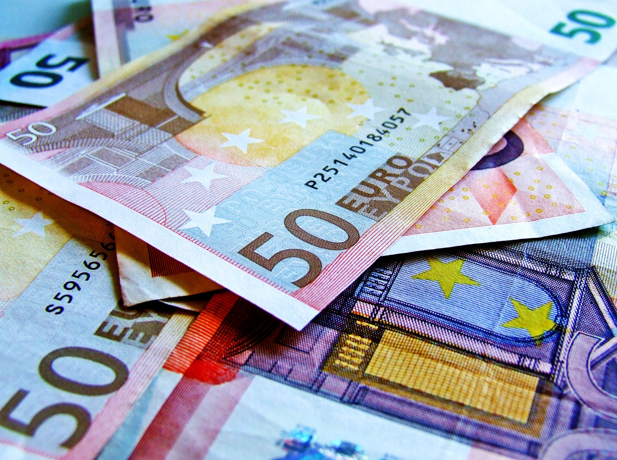 Image of Euros, the currency in Luxembourg