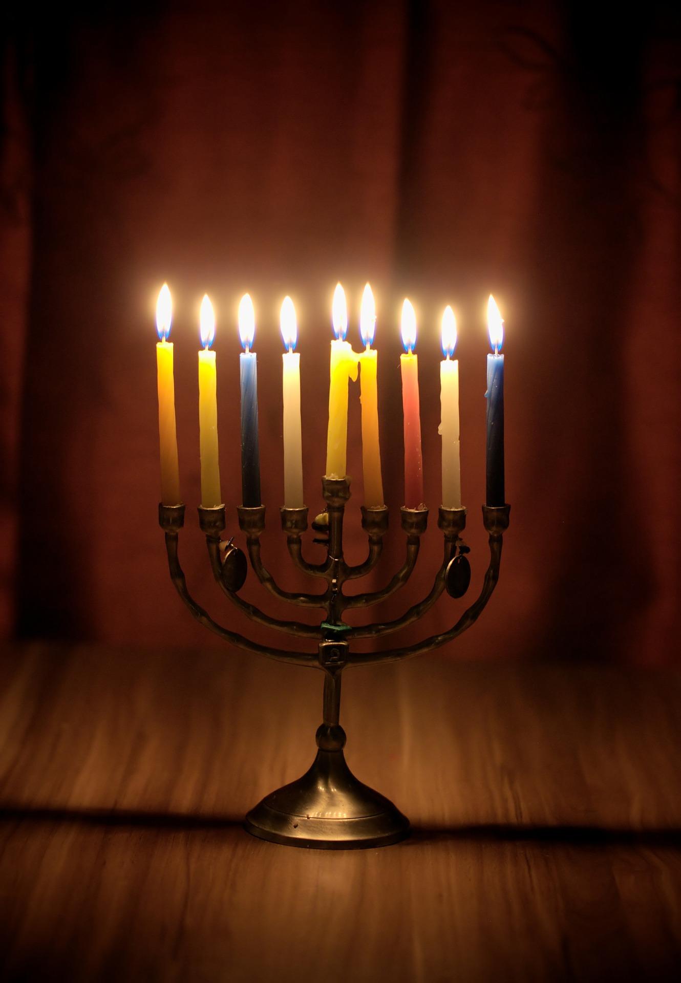 Image of a menorah for Hanukkah