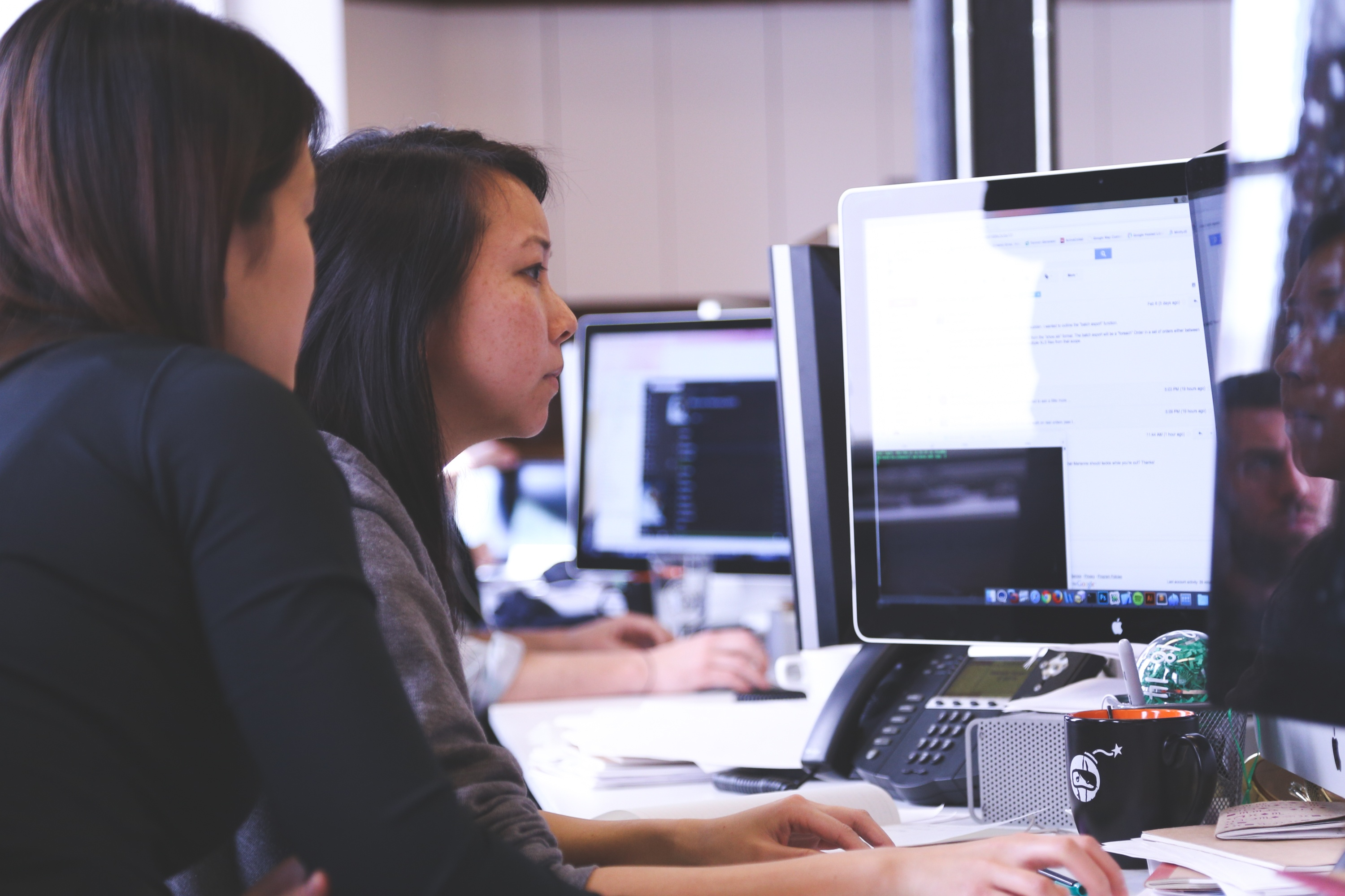 Image of women on a computer