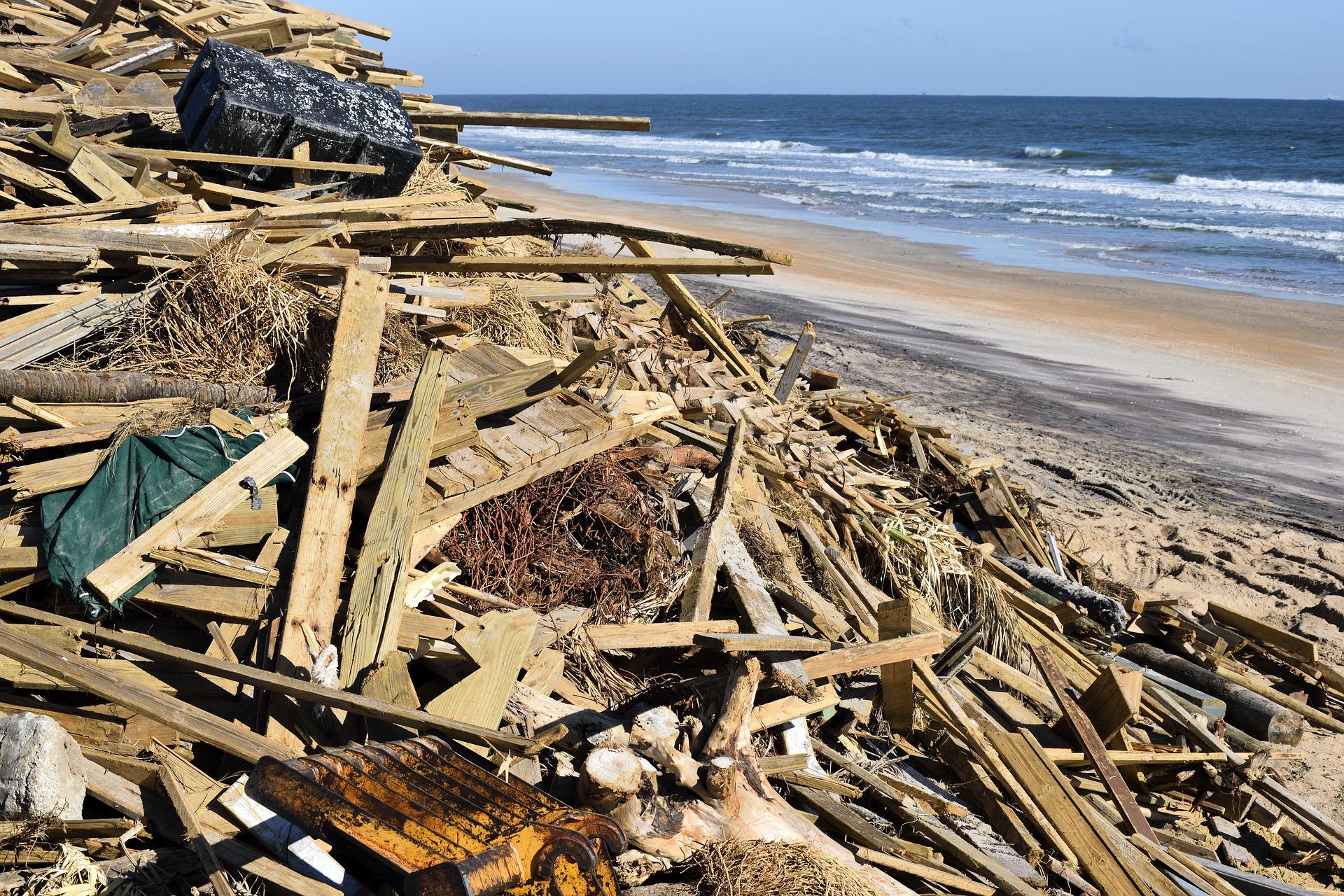 Image of hurricane damaged houses