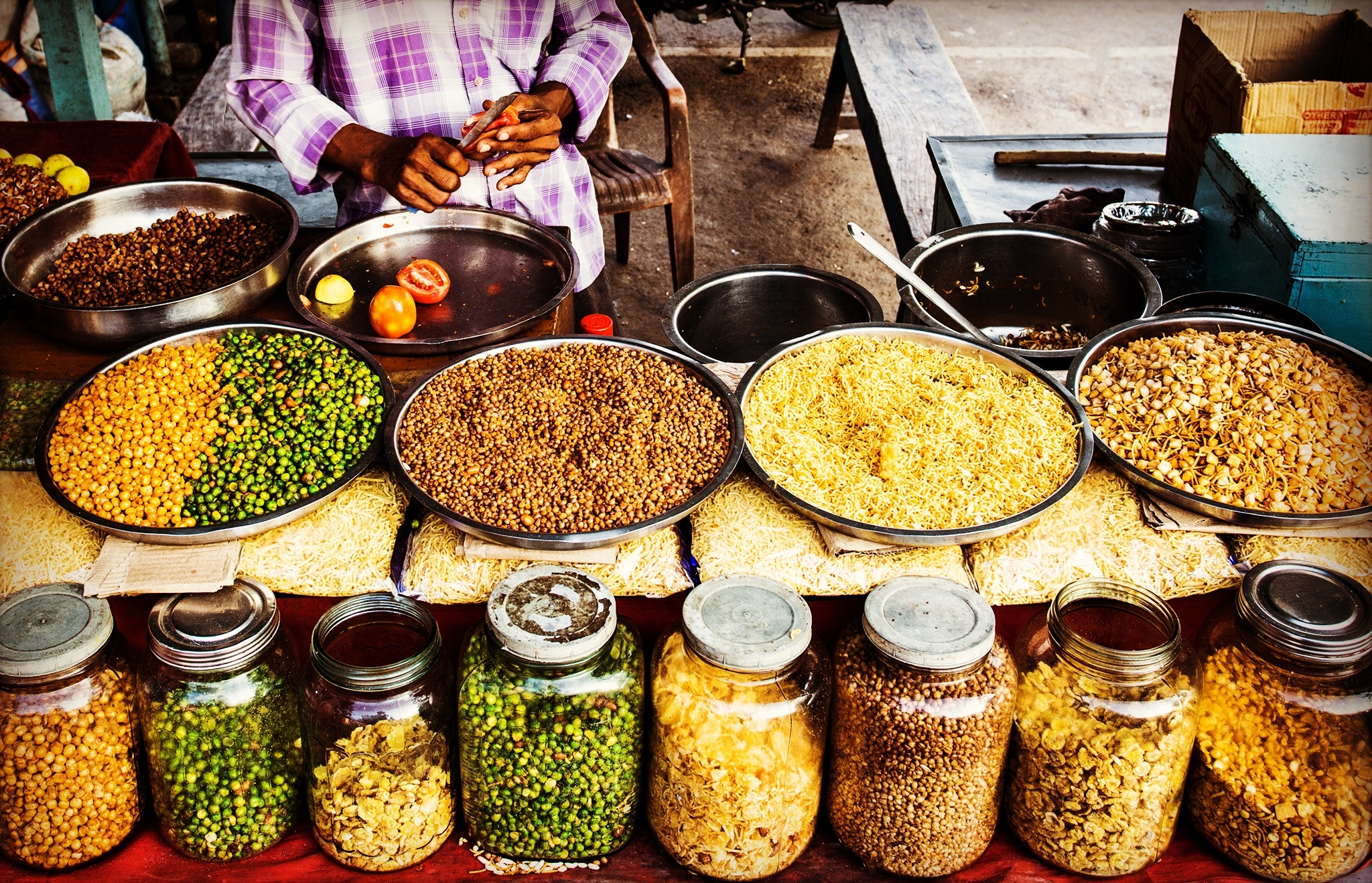 Image of a market in India