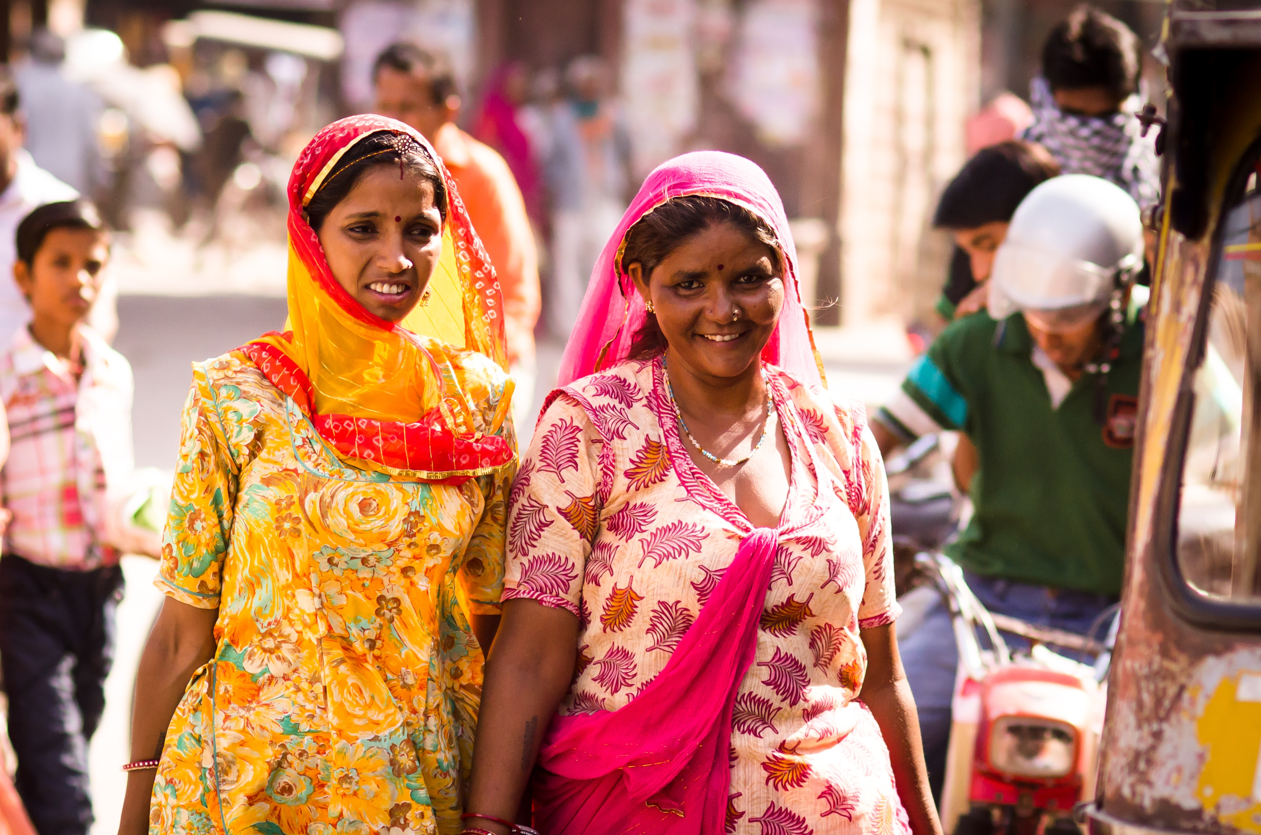 Image of women walking in India