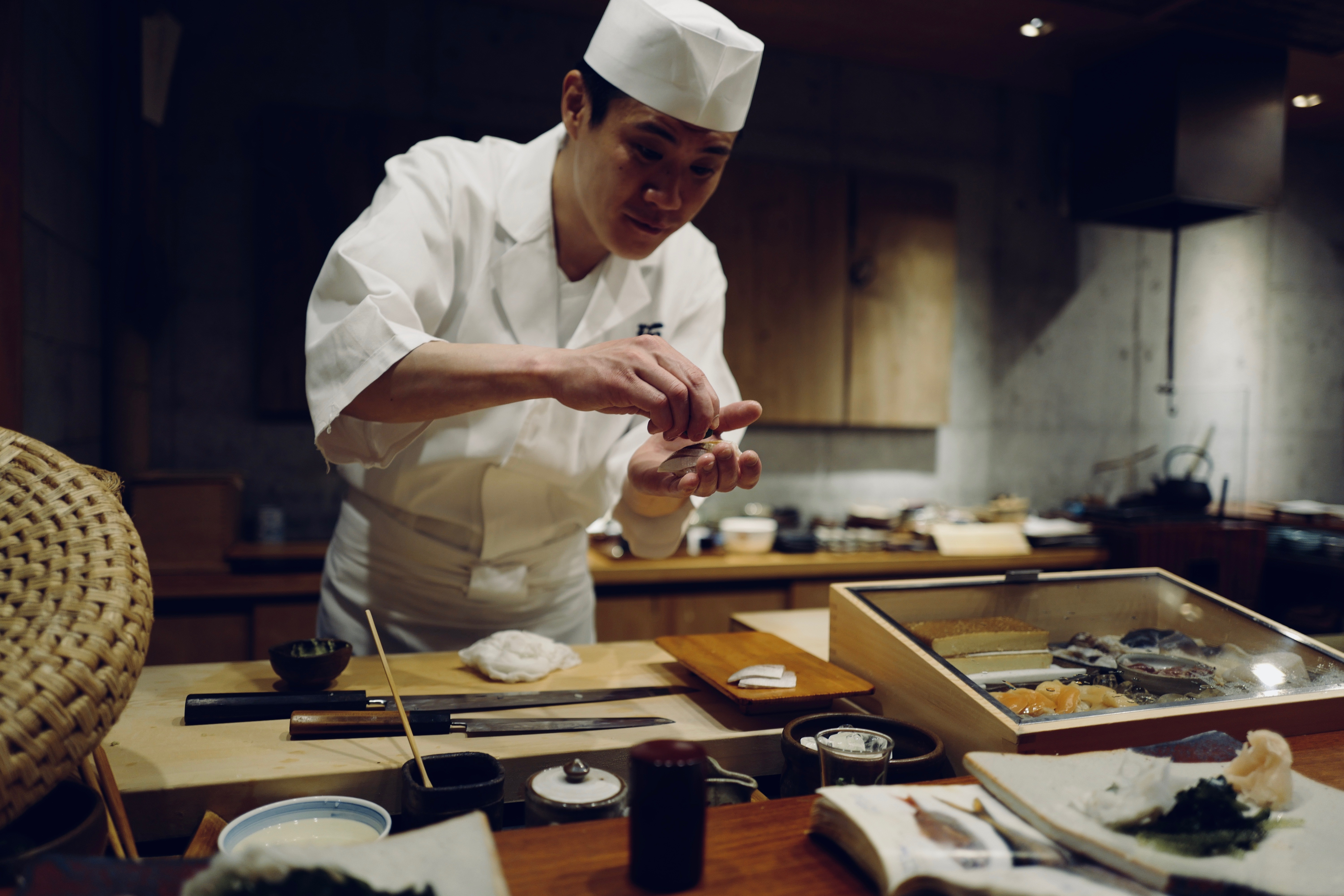 Image of a chef at work in Japan