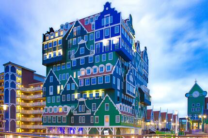 Image of a building with unique architecture in the Netherlands