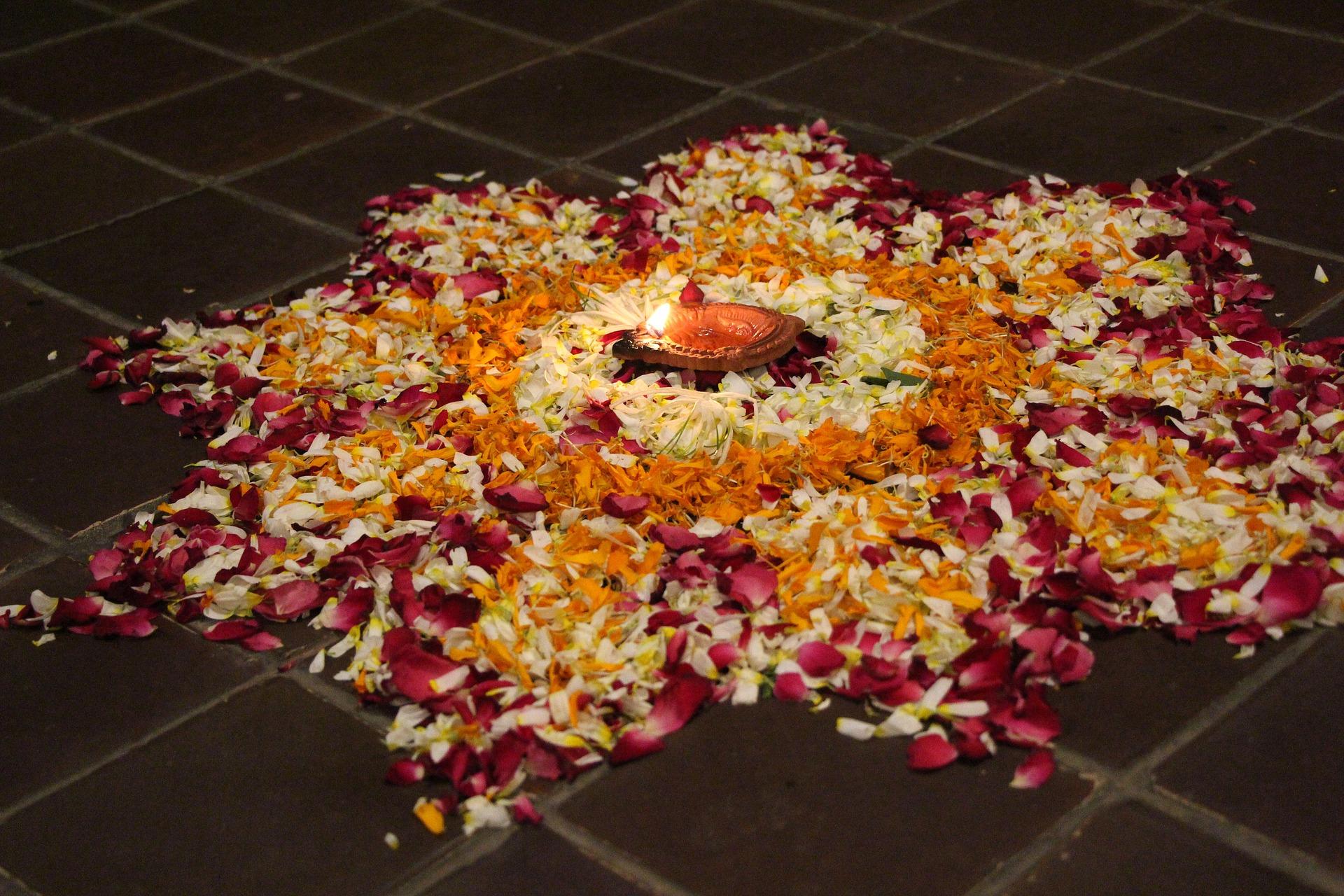 Image of a rangoli for Diwali