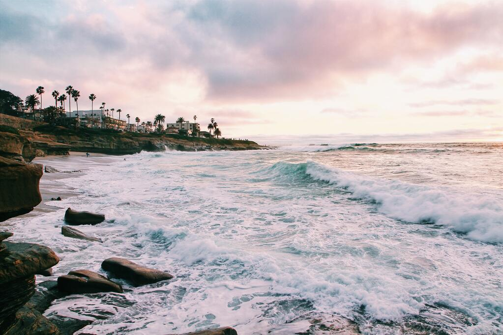 Image of the beach in San Diego