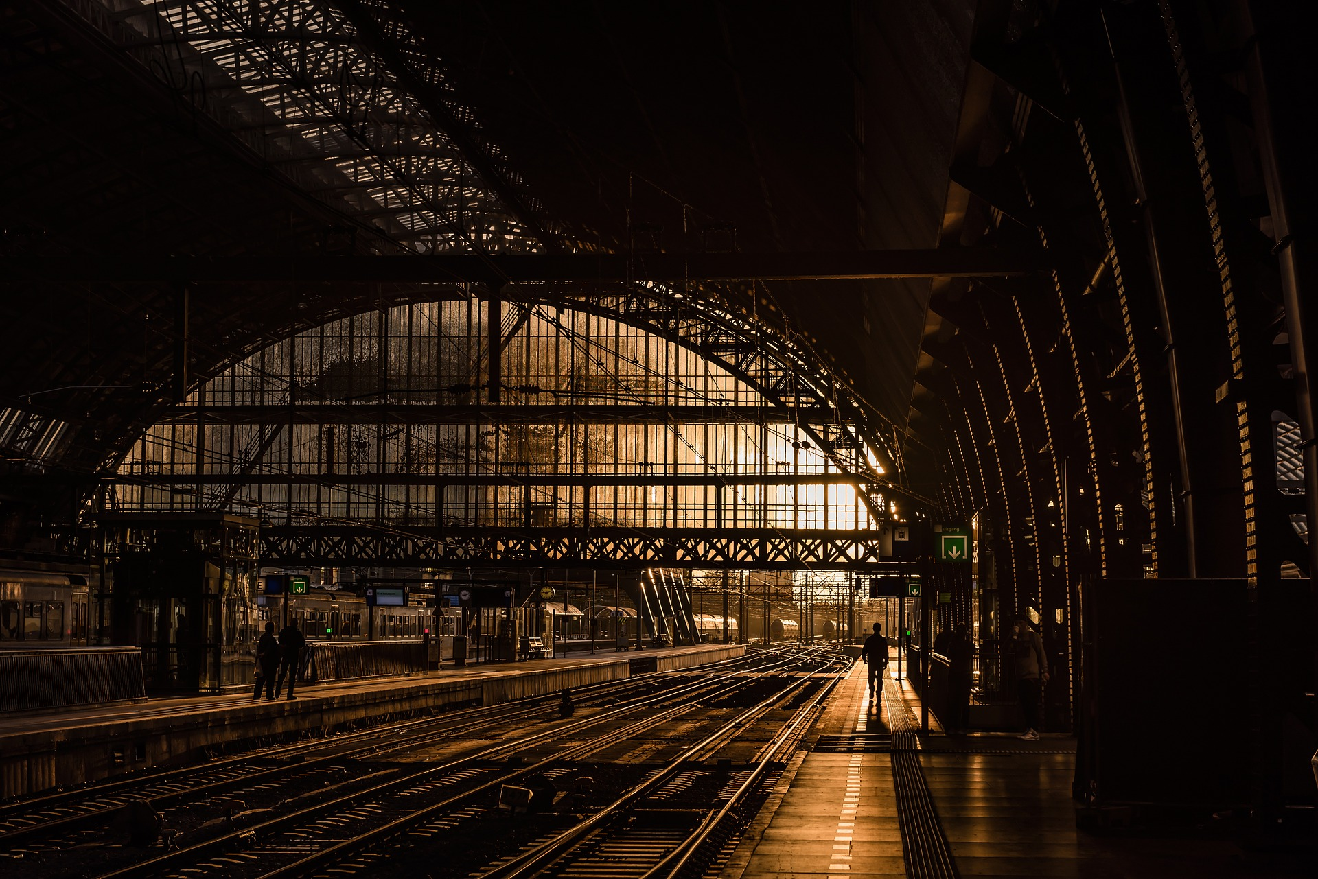 Image of train station in Europe