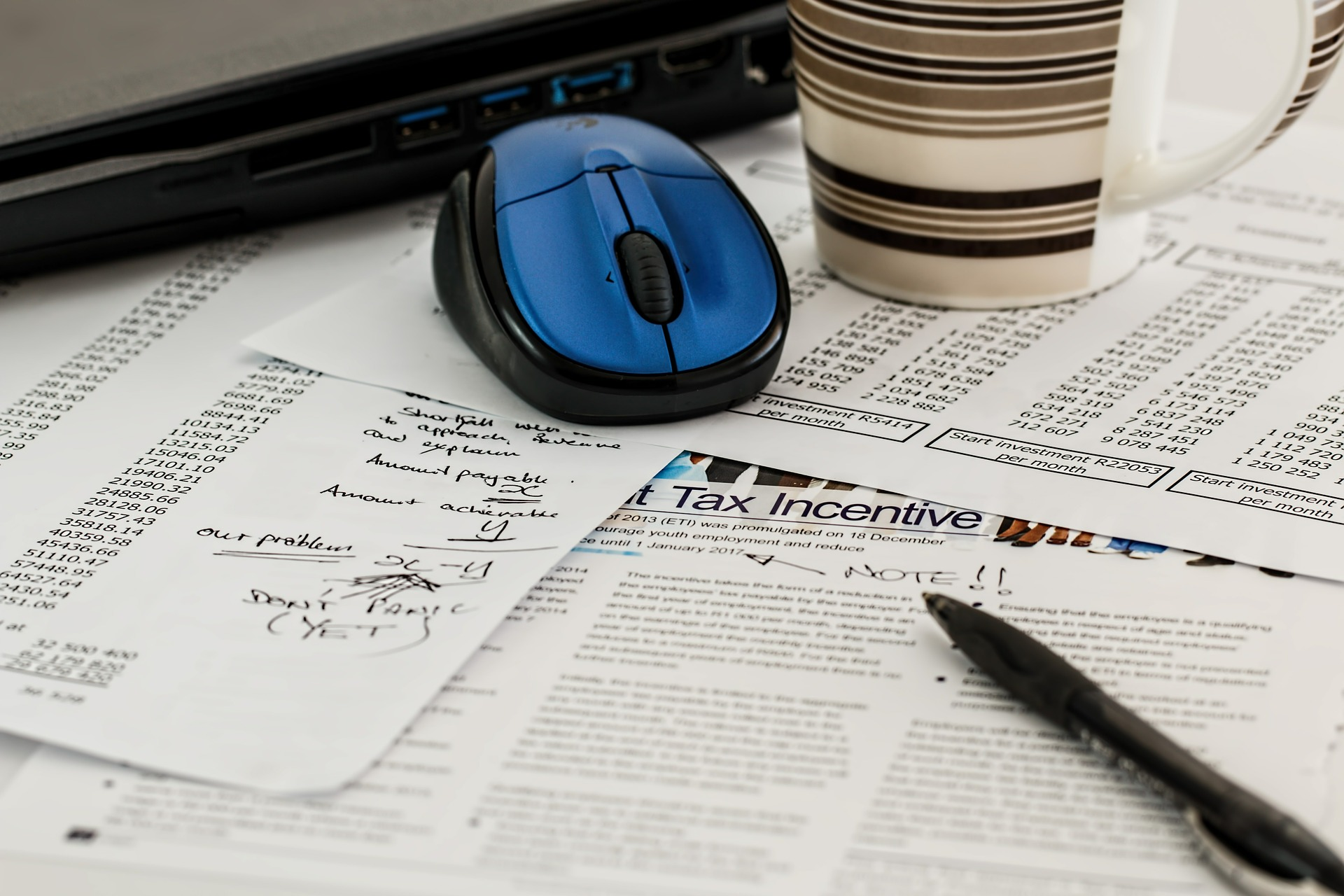 Image of taxes forms