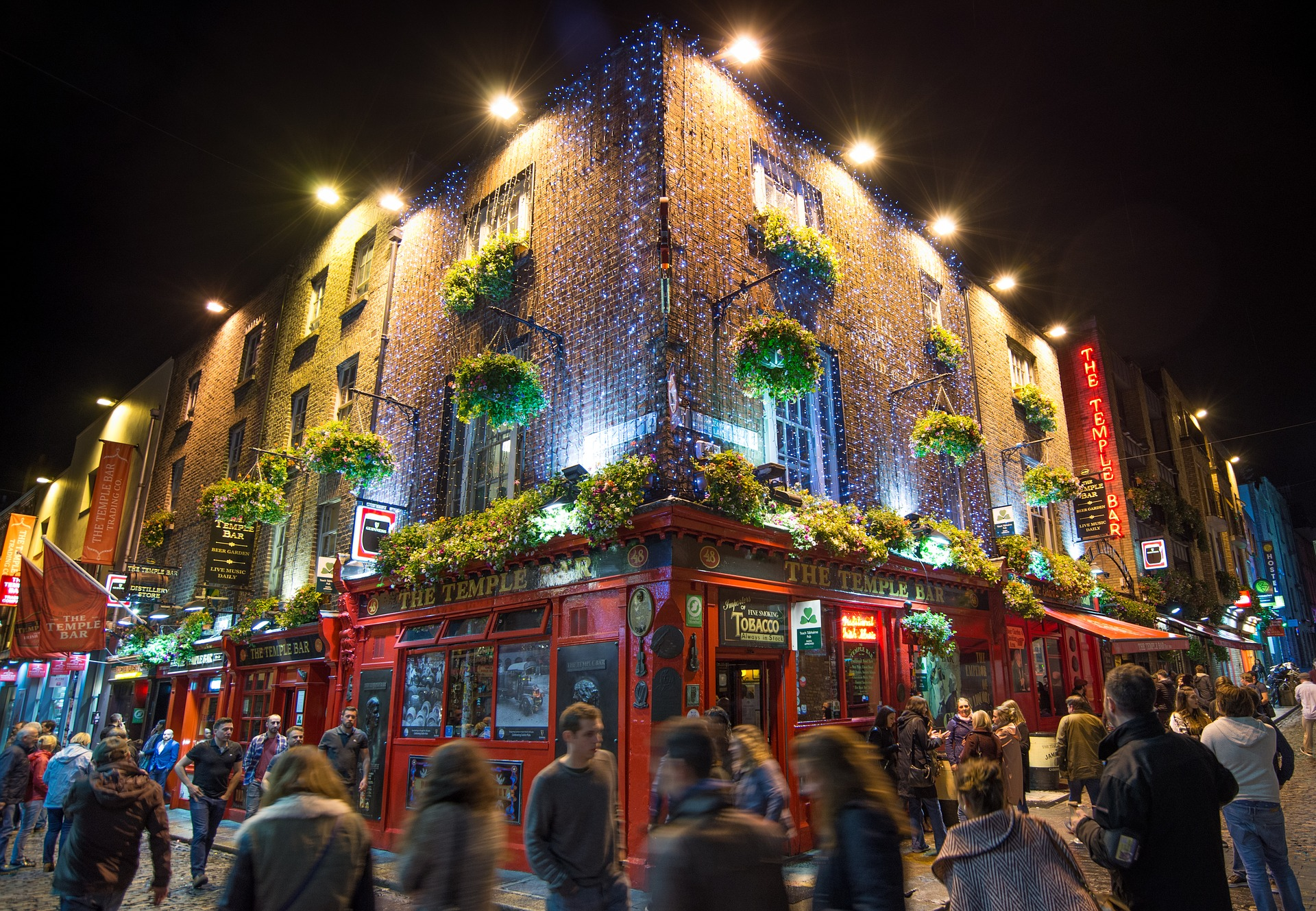 Image of Temple Bar area in Dublin