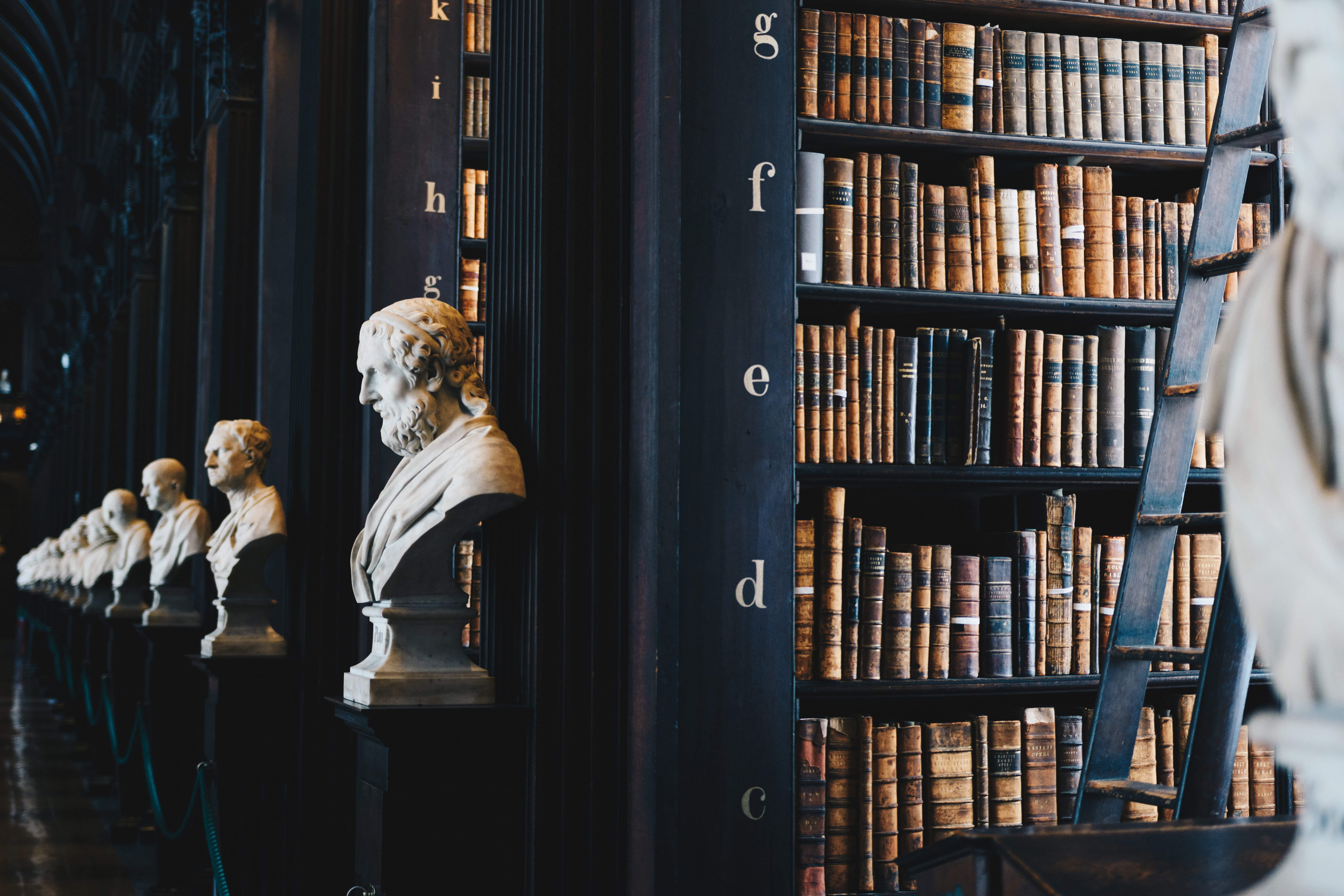 Image of Trinity College Library in Dublin