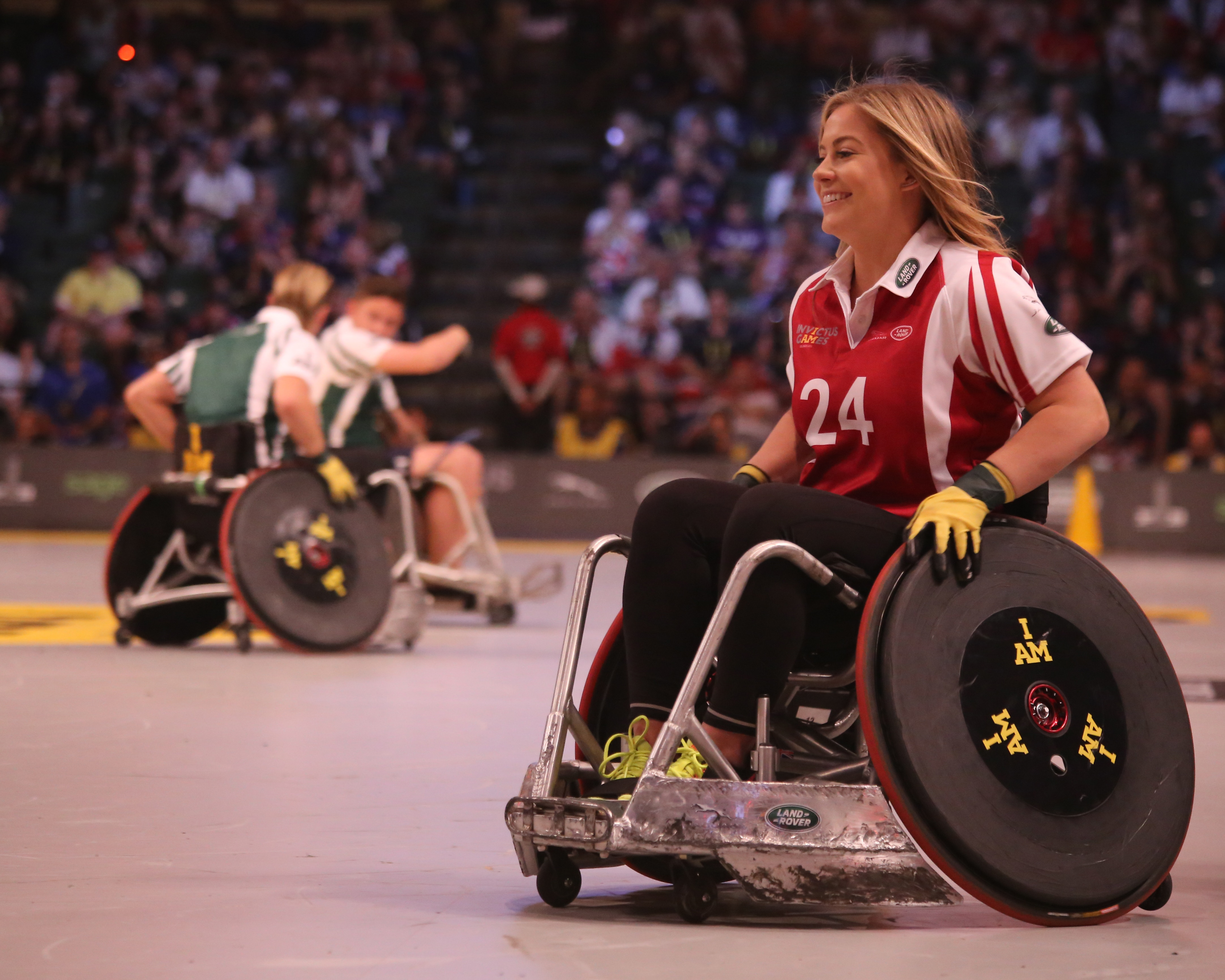 Image of an athlete competing in a wheelchair