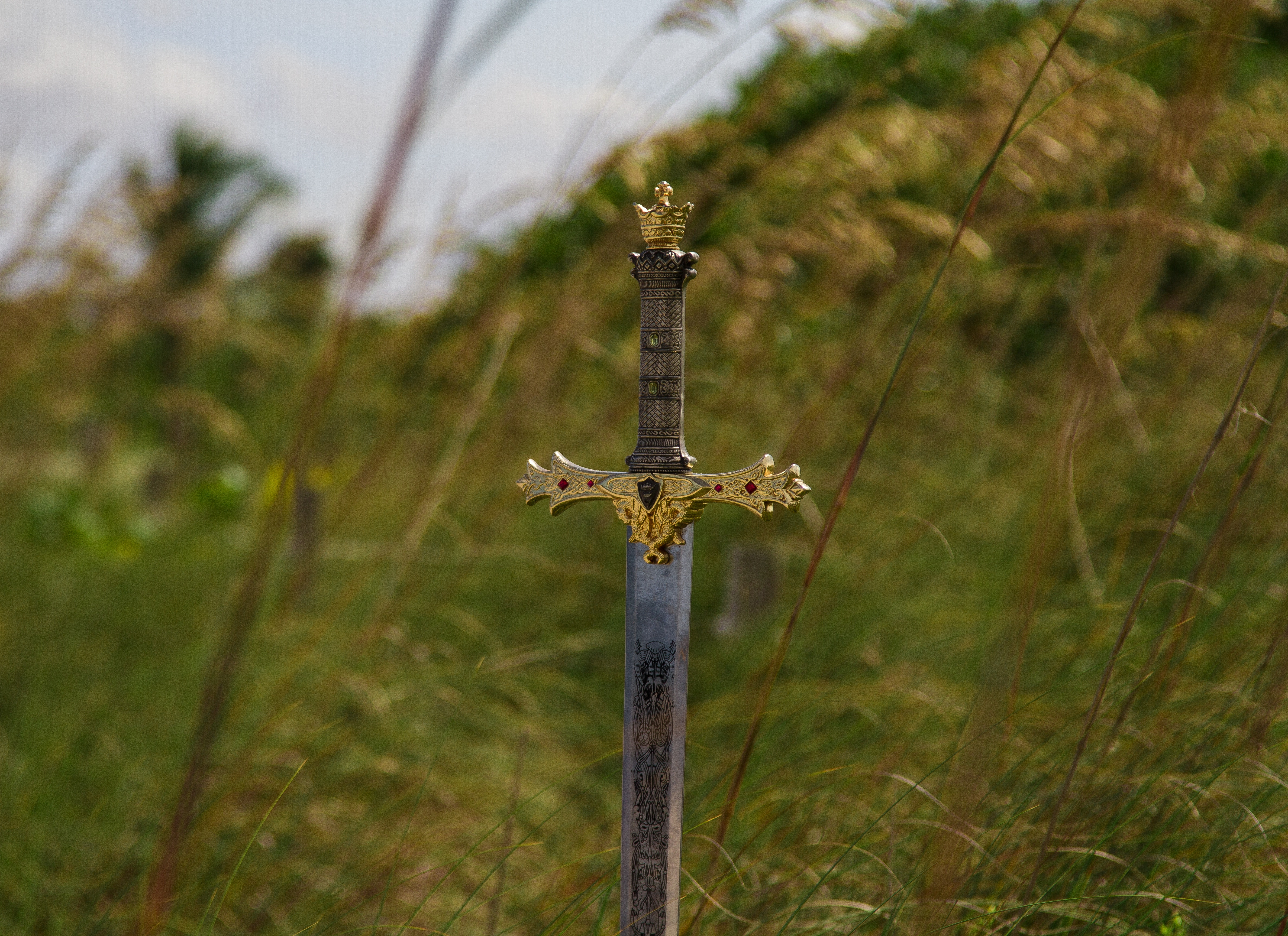 Image of a sword in the ground