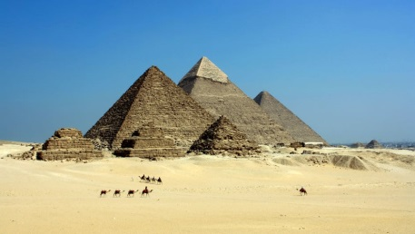 An image of the Great Pyramids
