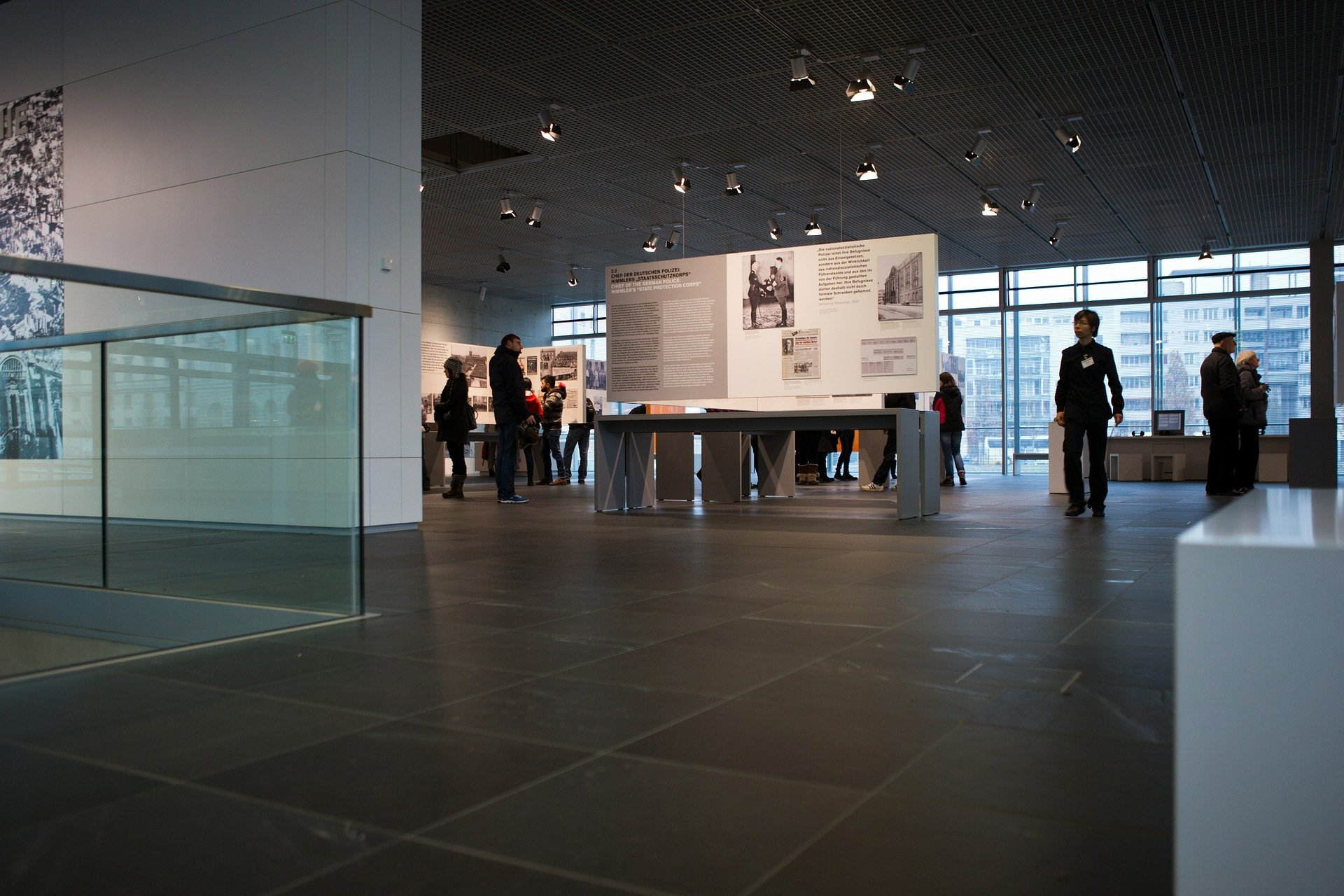 Image of the interior of the Topography of Terror Museum