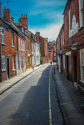 Image of a street in Winchester, a location with International Destination Services