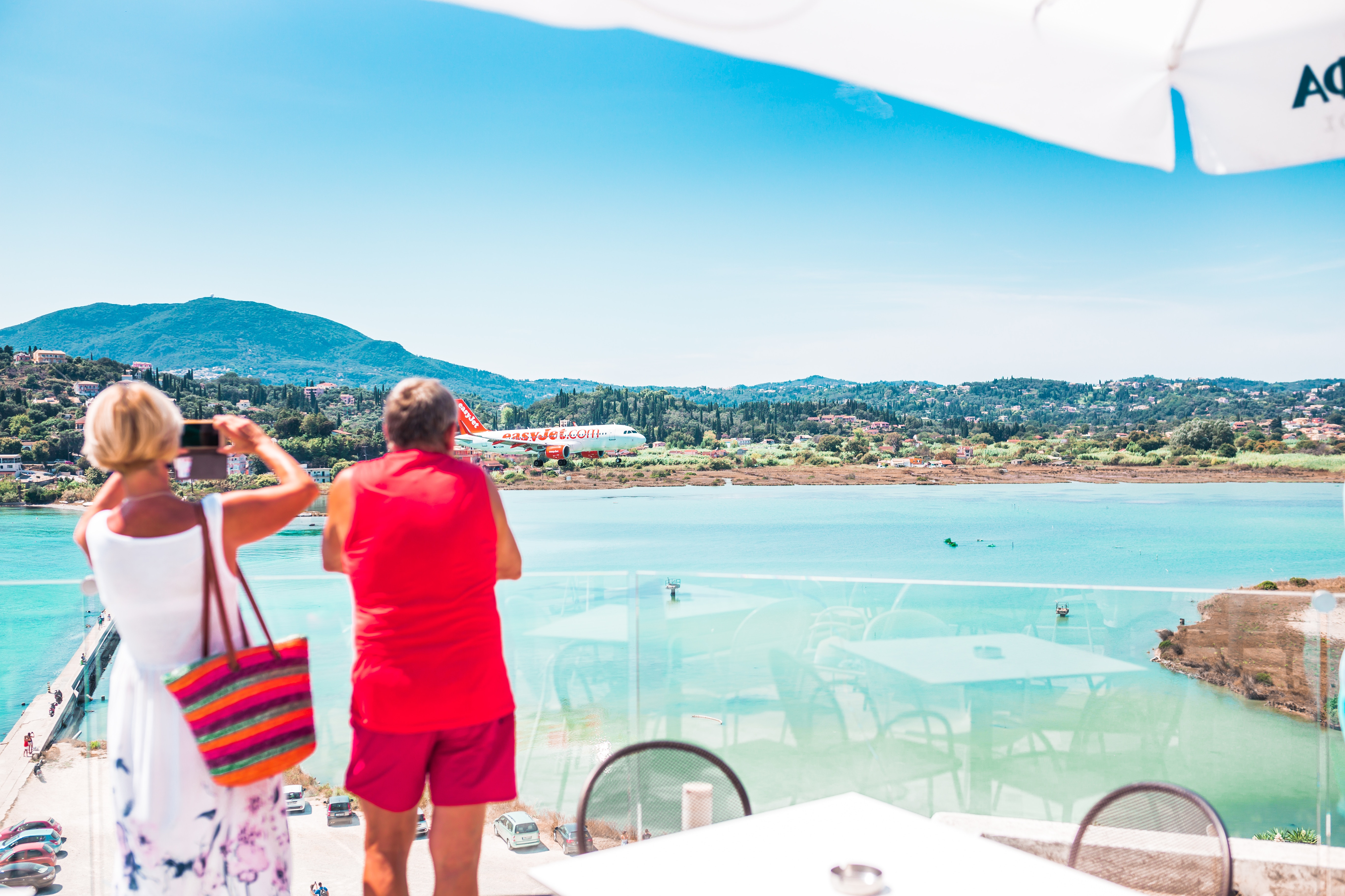 Image of business travelers enjoying a leisurely vacation