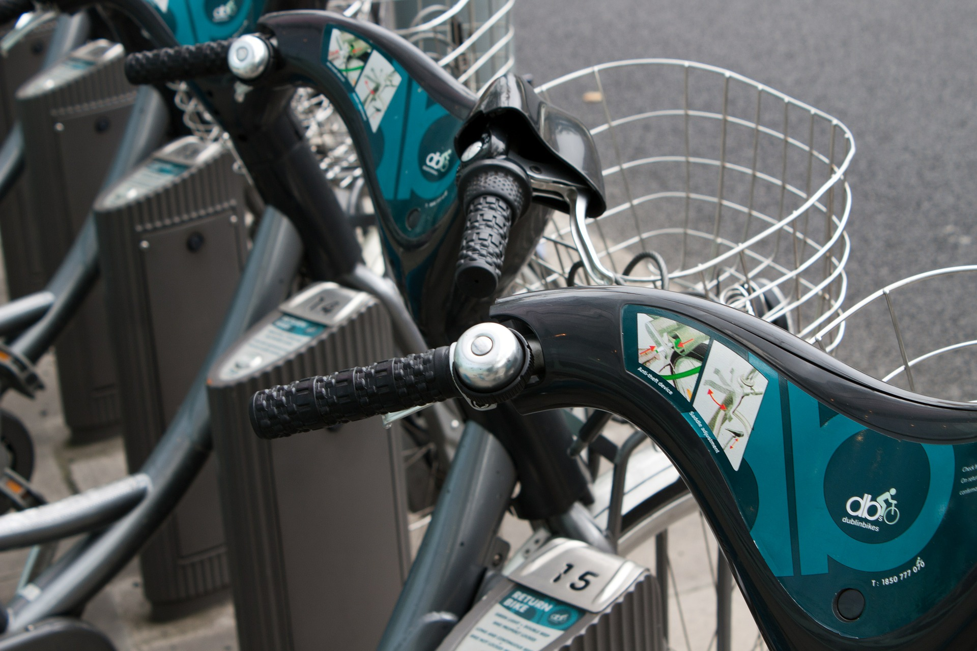 Image of a bike sharing terminal in Dublin