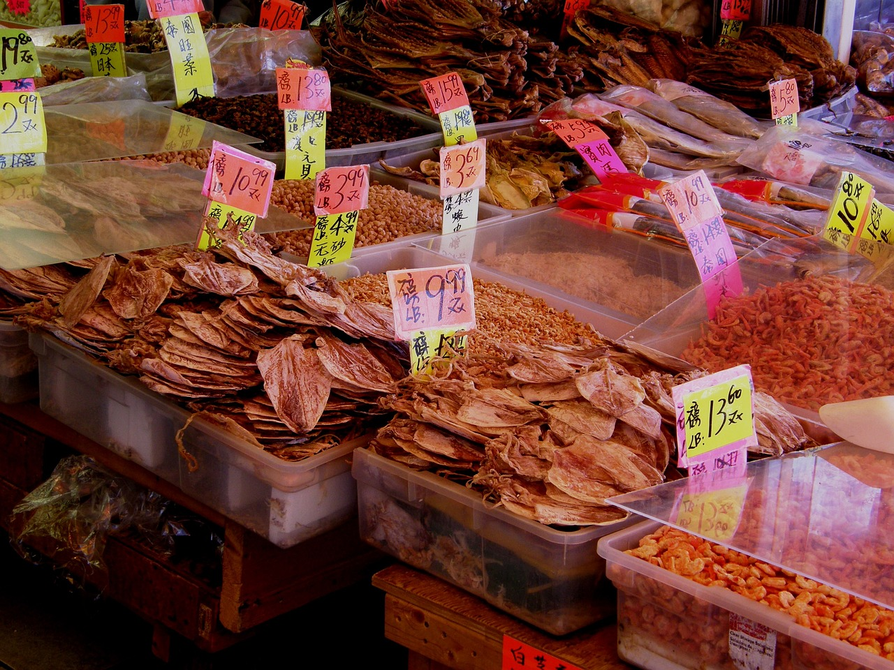 Image of a market in China