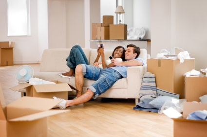 photo of a couple in a new apartment