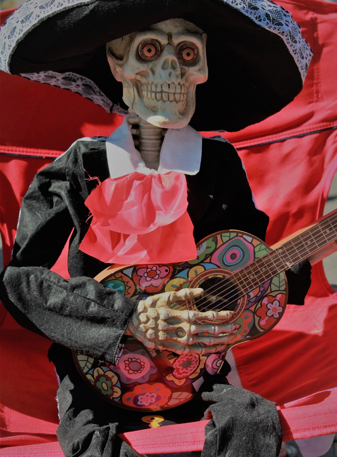 Image of a skeleton decoration for Day of the Dead in Mexico City