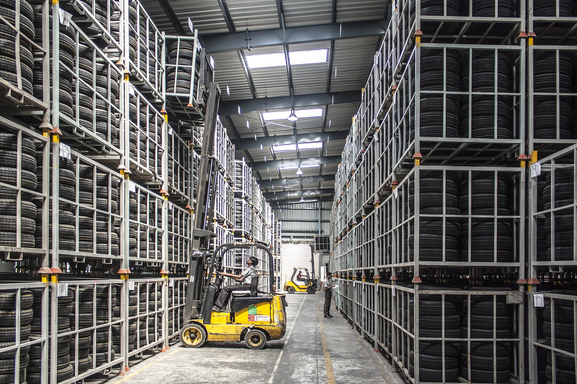 Image of a forklift in a warehouse