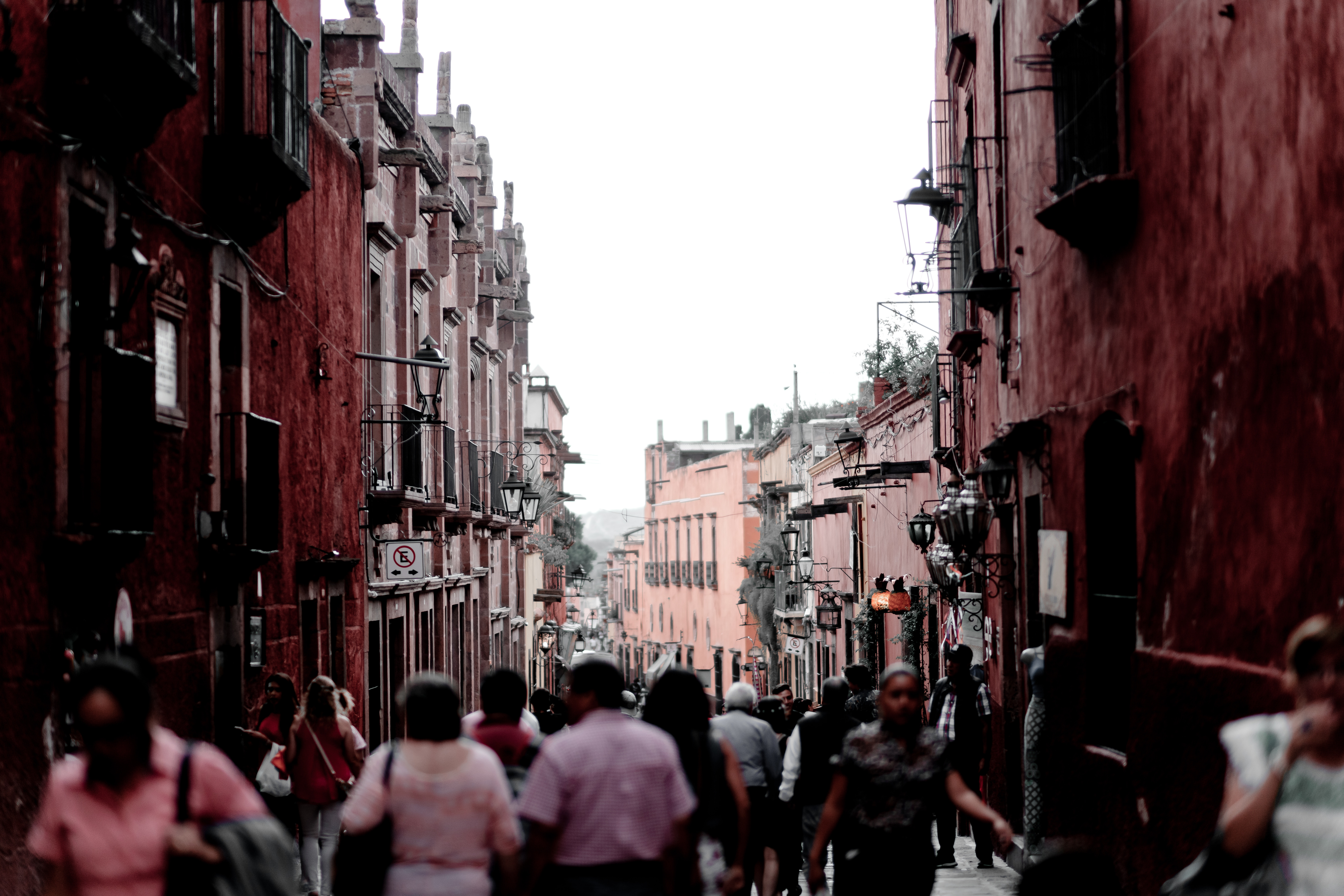 photo of a crowded street in Mexico