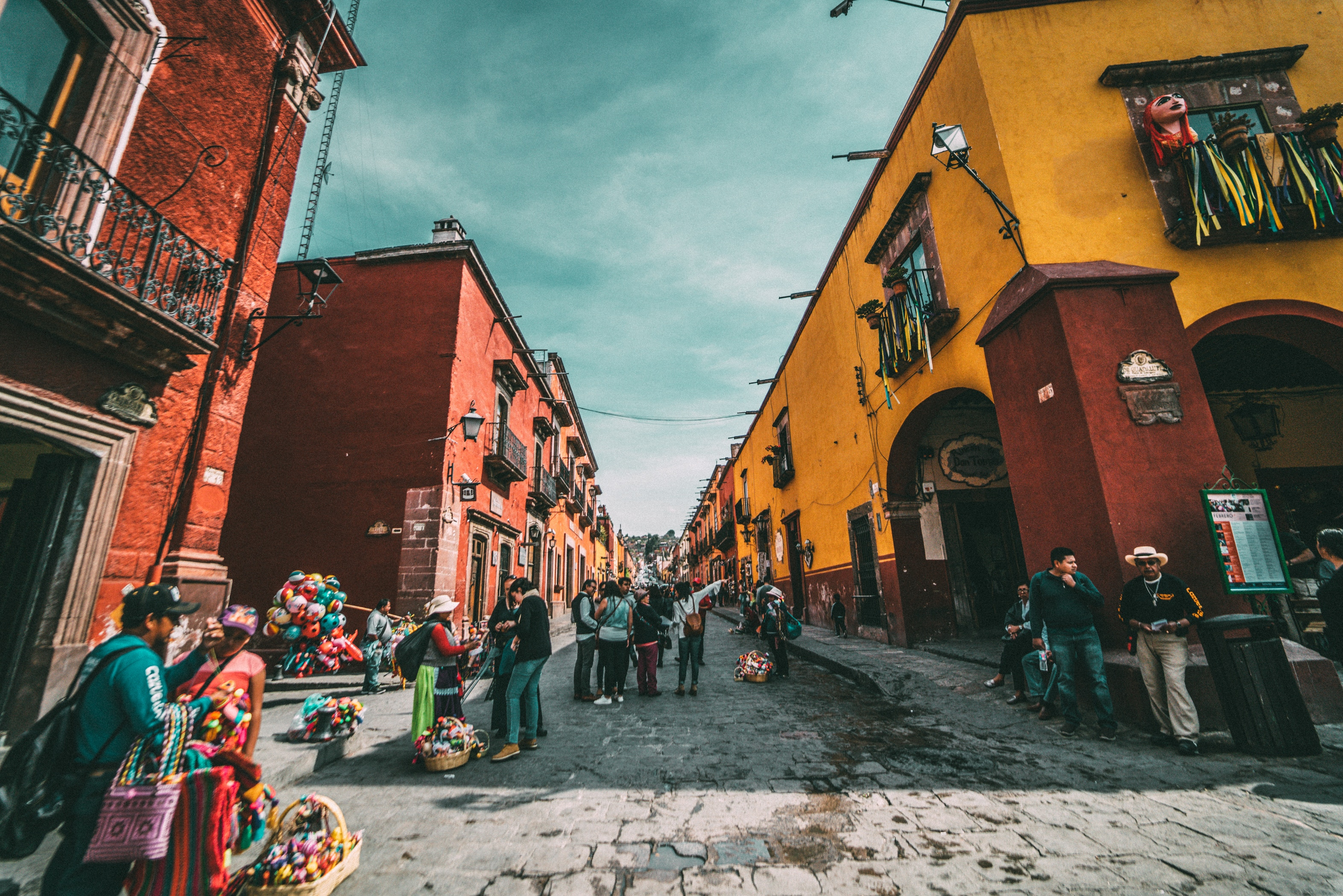 A photo of a street in Mexico