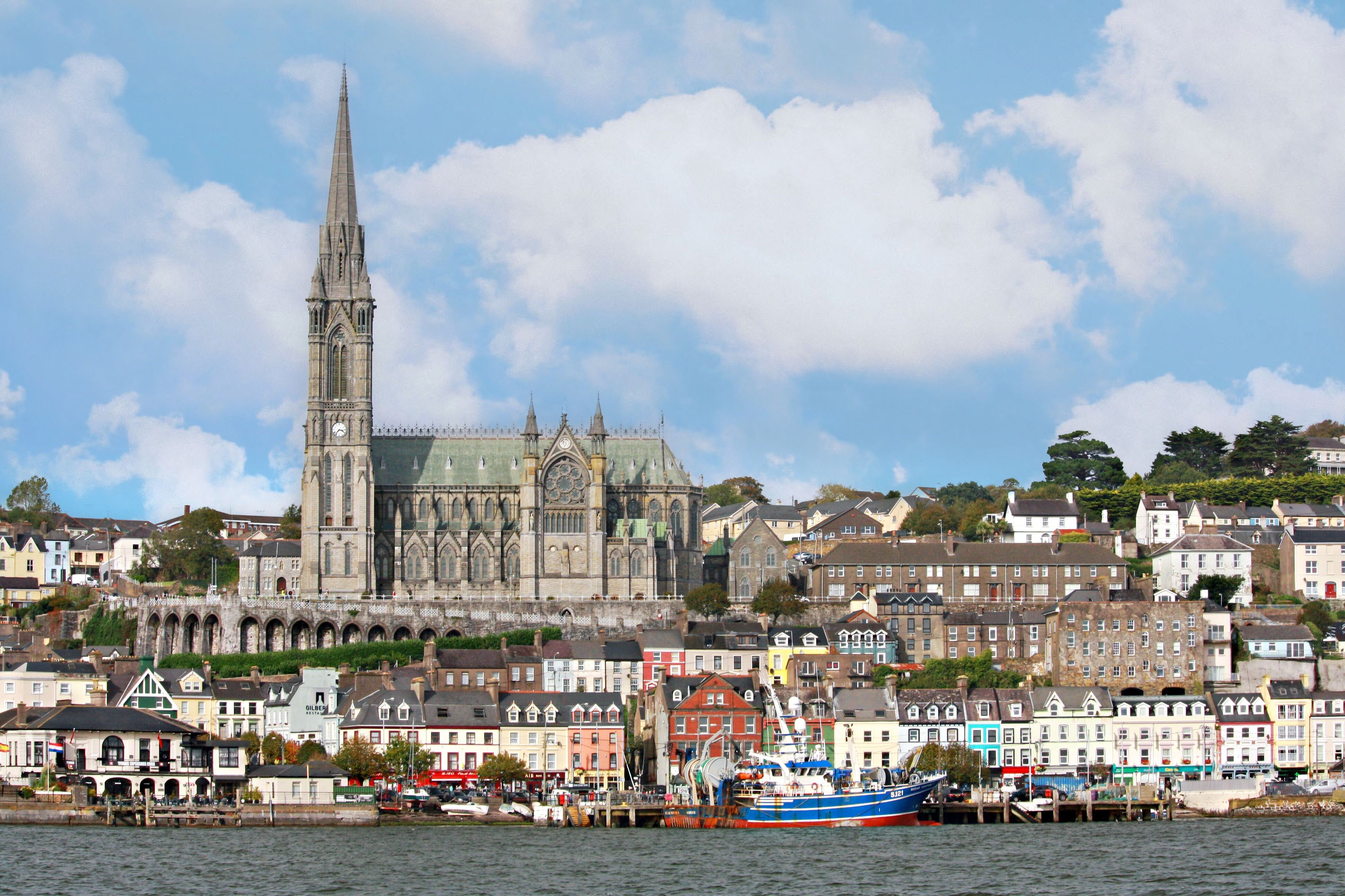 Image of the skyline in Cobh, Ireland