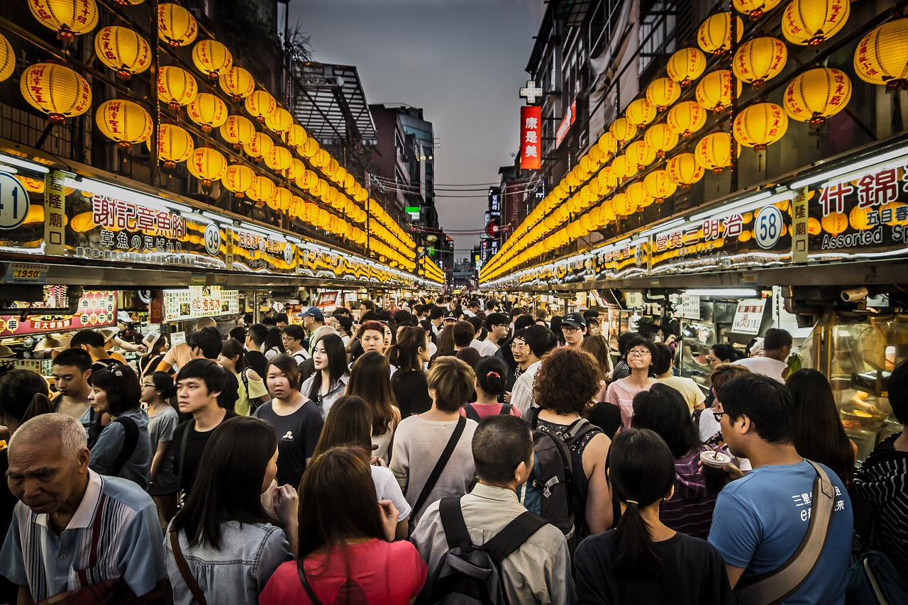 Image of a night market in Taiwan