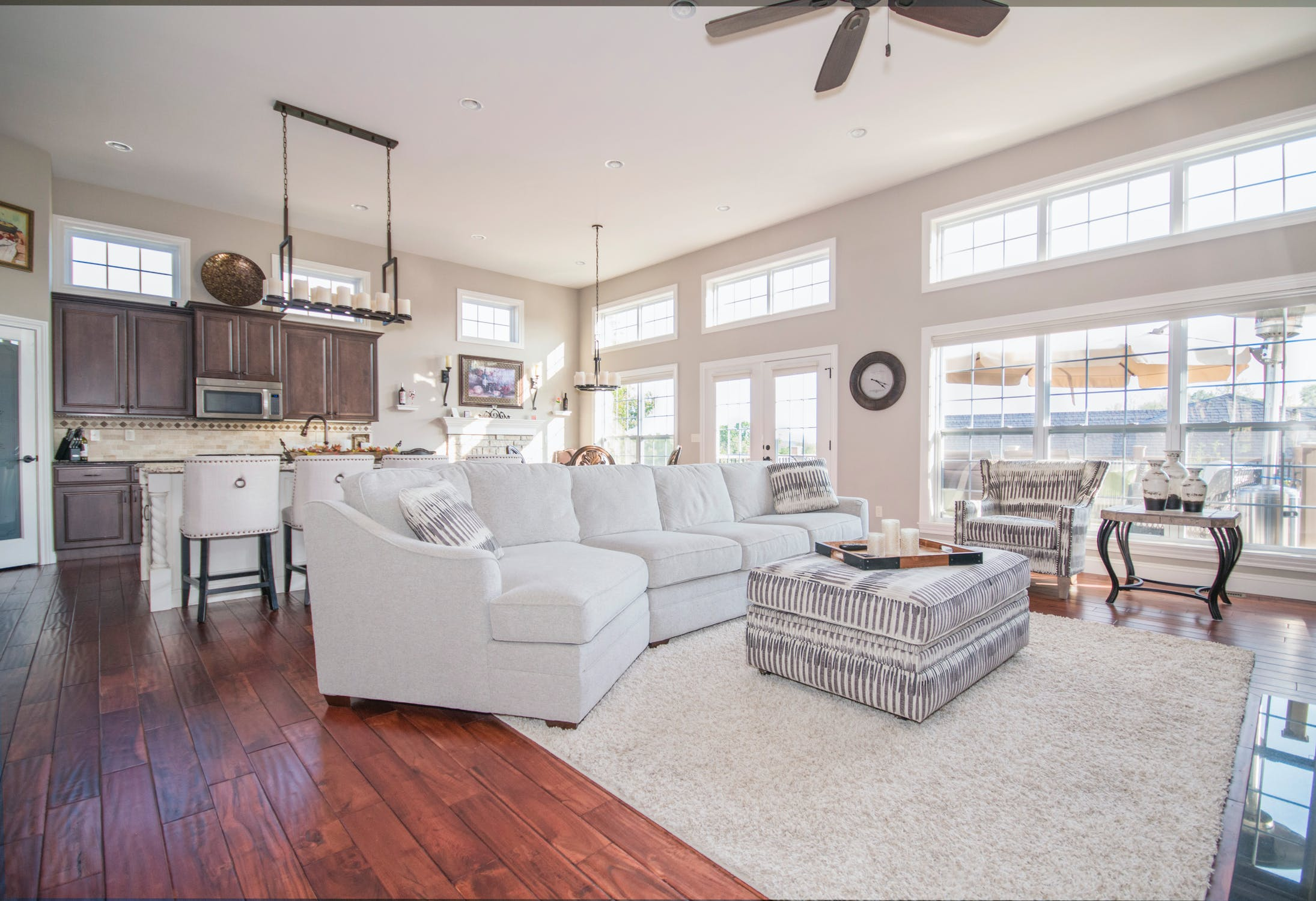 Image of an open-concept layout living room