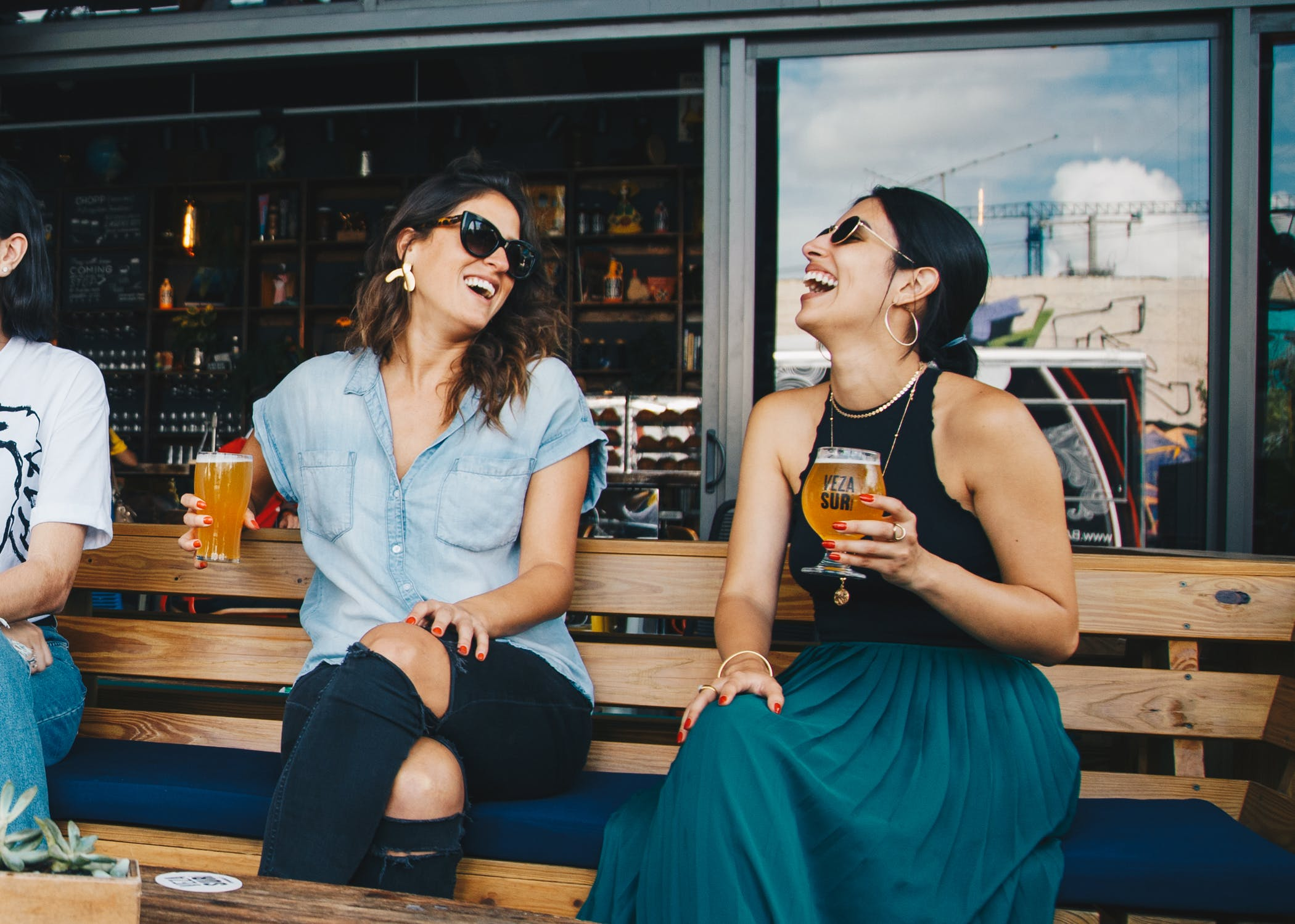 Image of two women laughing