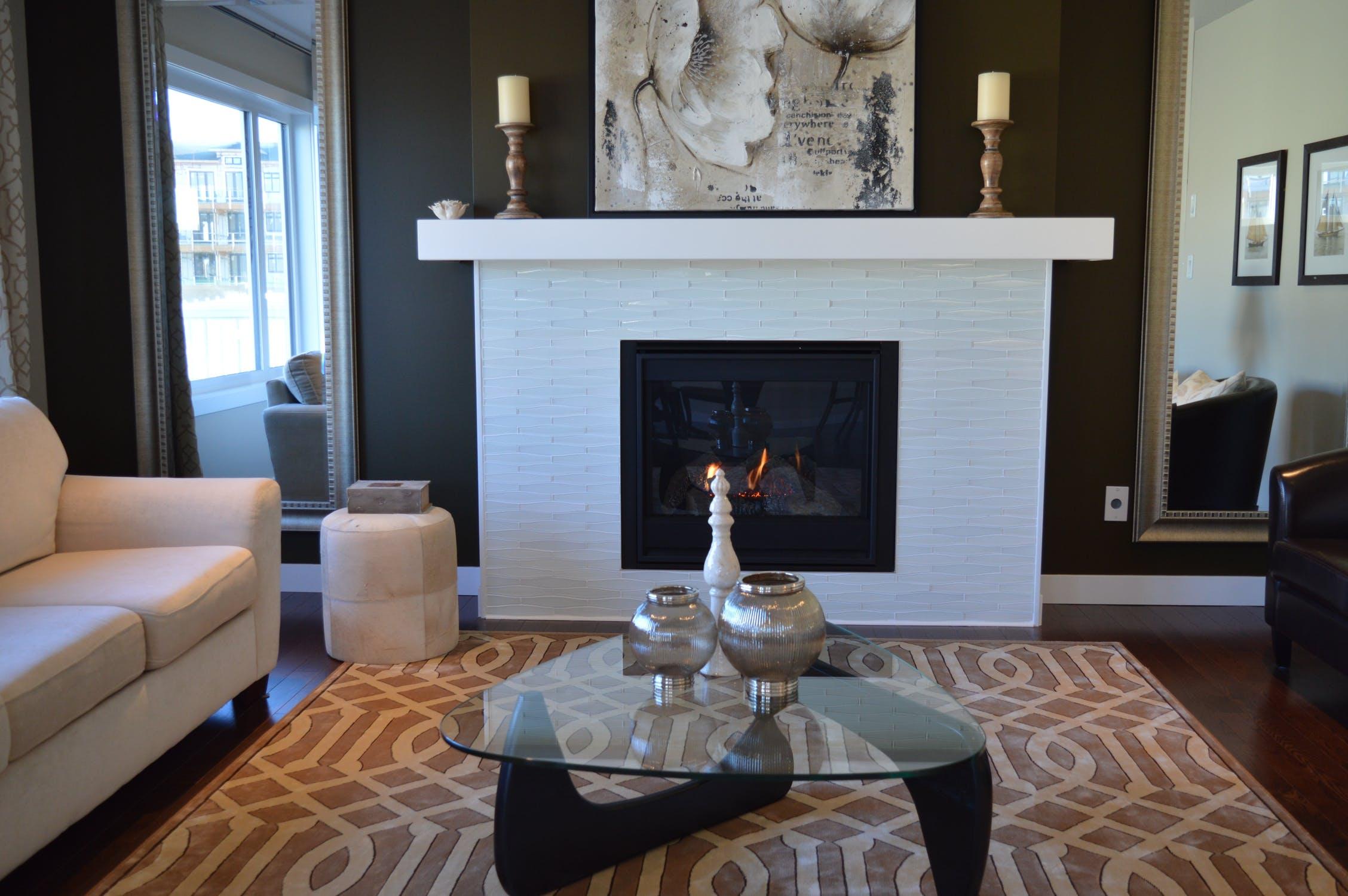 Image of a modern fireplace